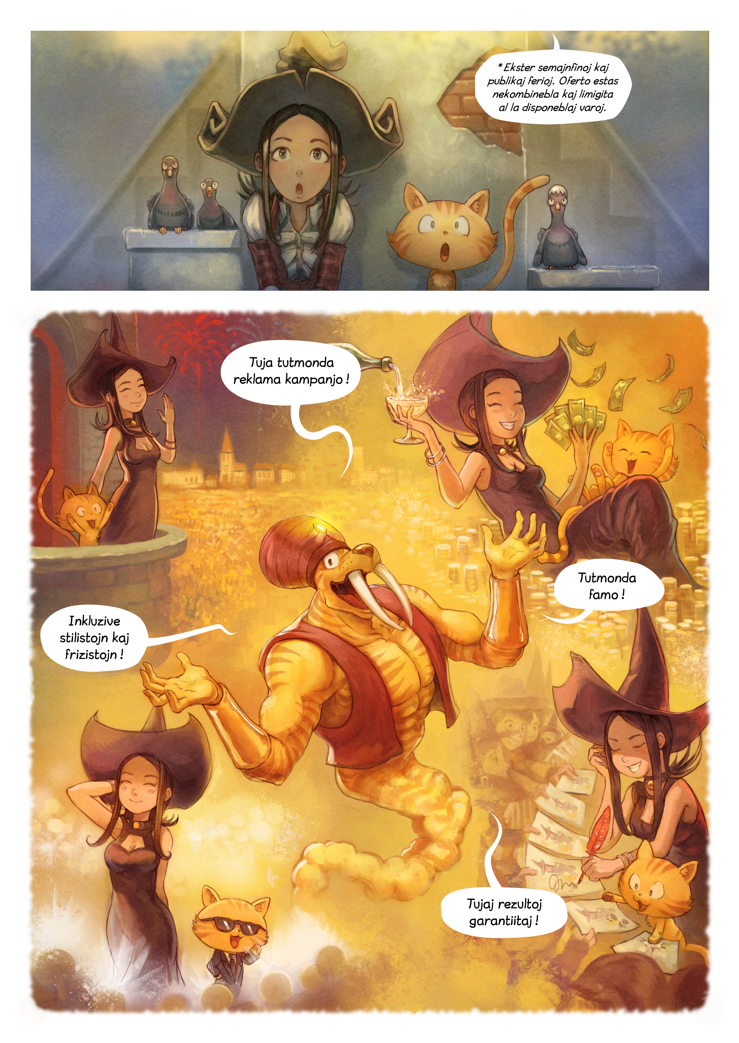 A webcomic page of Pepper&Carrot, rakonto 23 [eo], paĝo 4