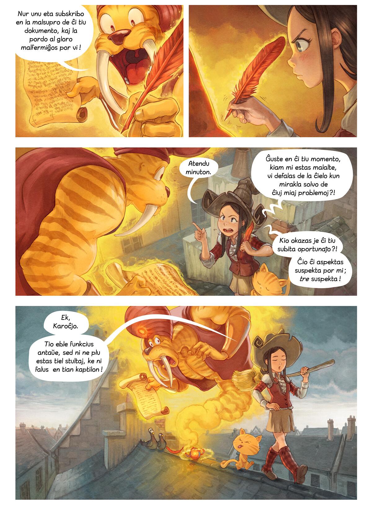 A webcomic page of Pepper&Carrot, rakonto 23 [eo], paĝo 5