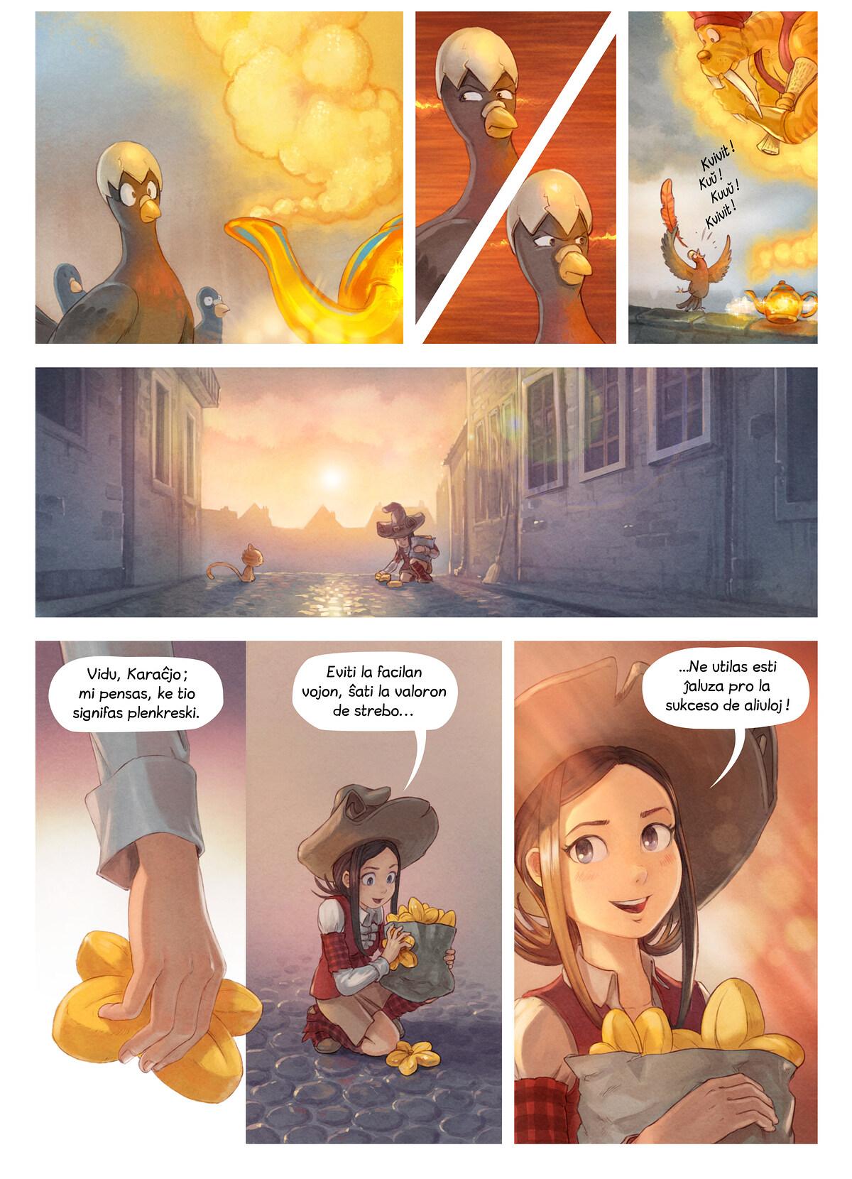 A webcomic page of Pepper&Carrot, rakonto 23 [eo], paĝo 6