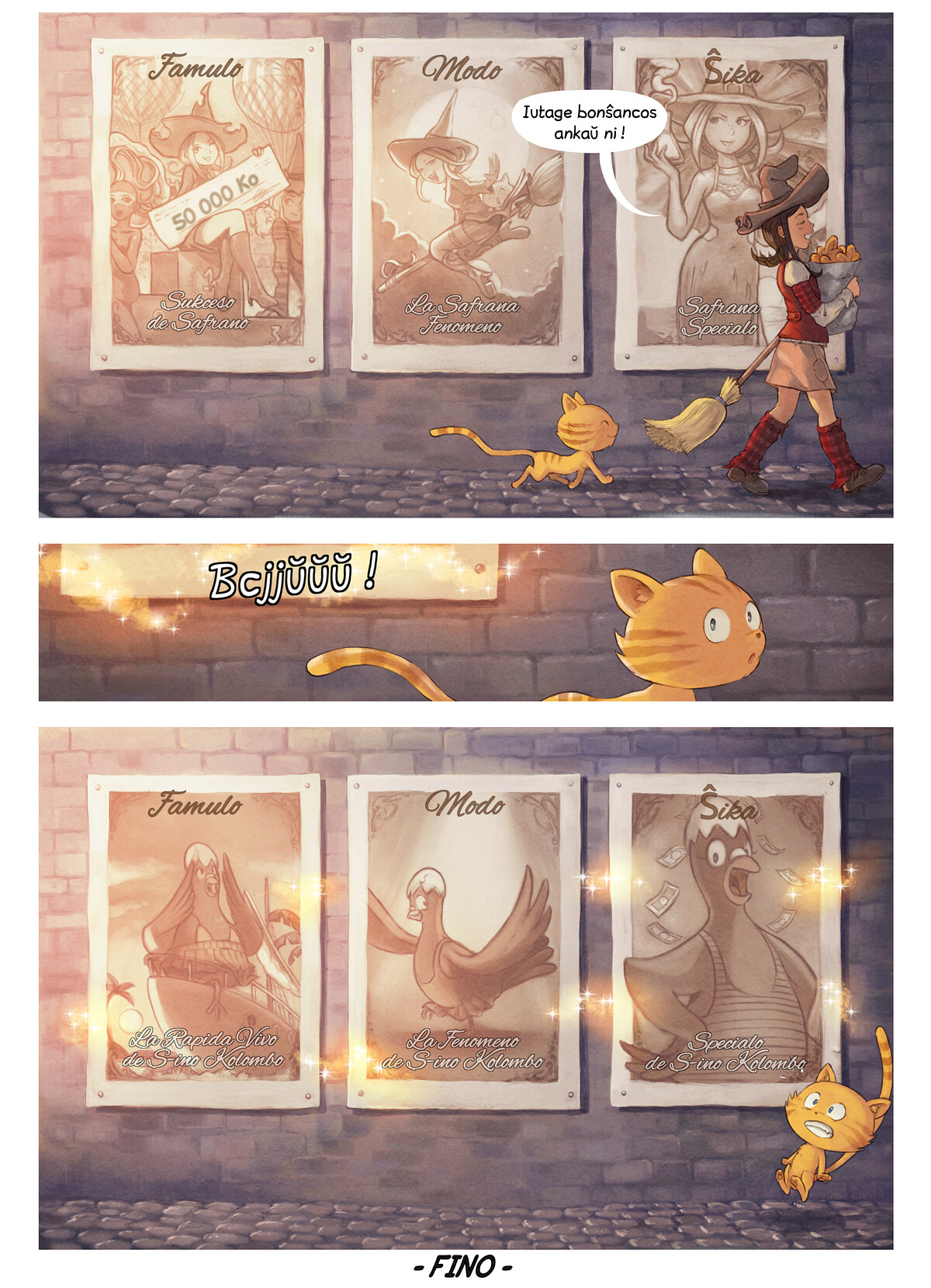 A webcomic page of Pepper&Carrot, rakonto 23 [eo], paĝo 7