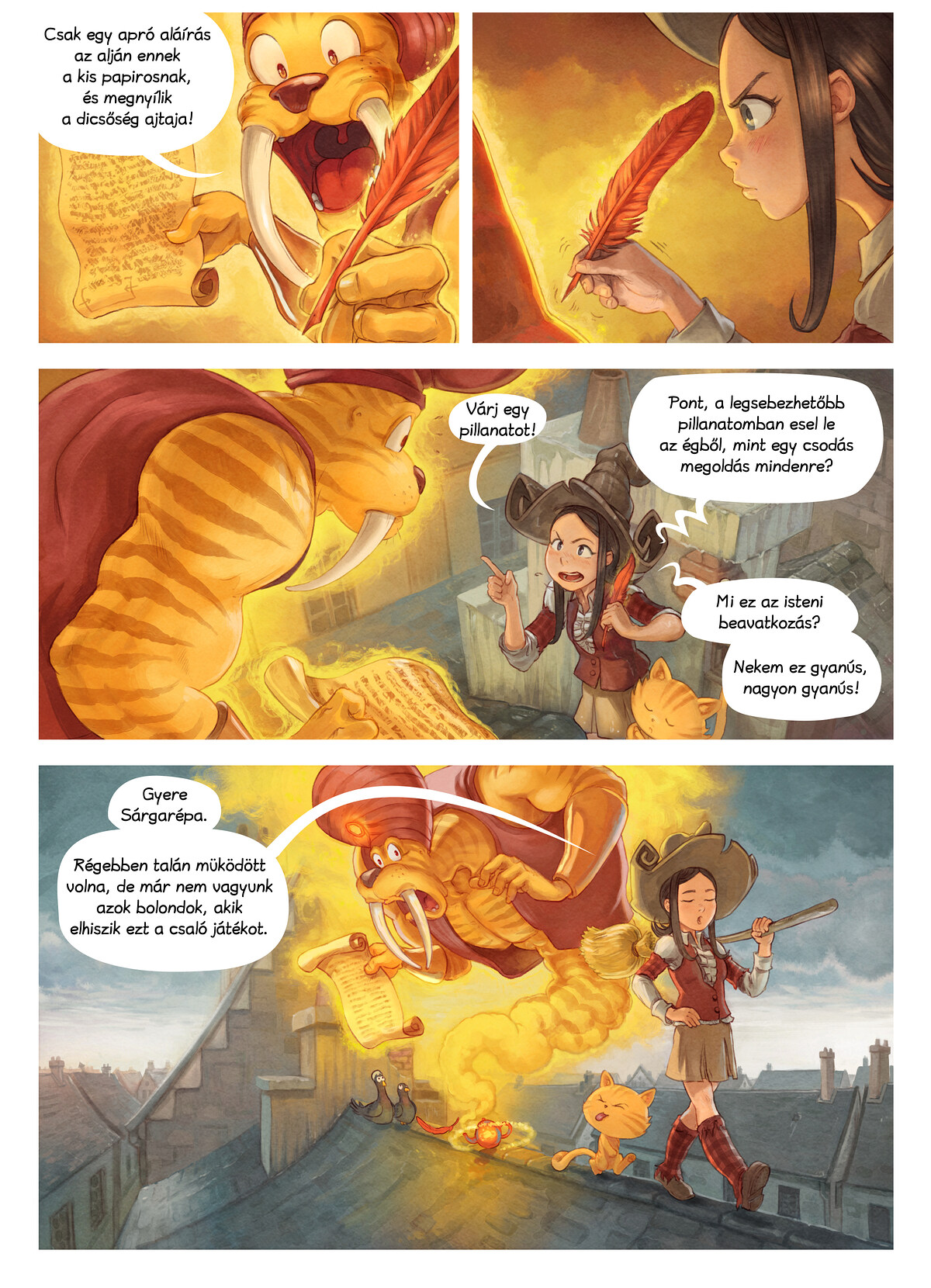 A webcomic page of Pepper&Carrot, epizód 23 [hu], oldal 5
