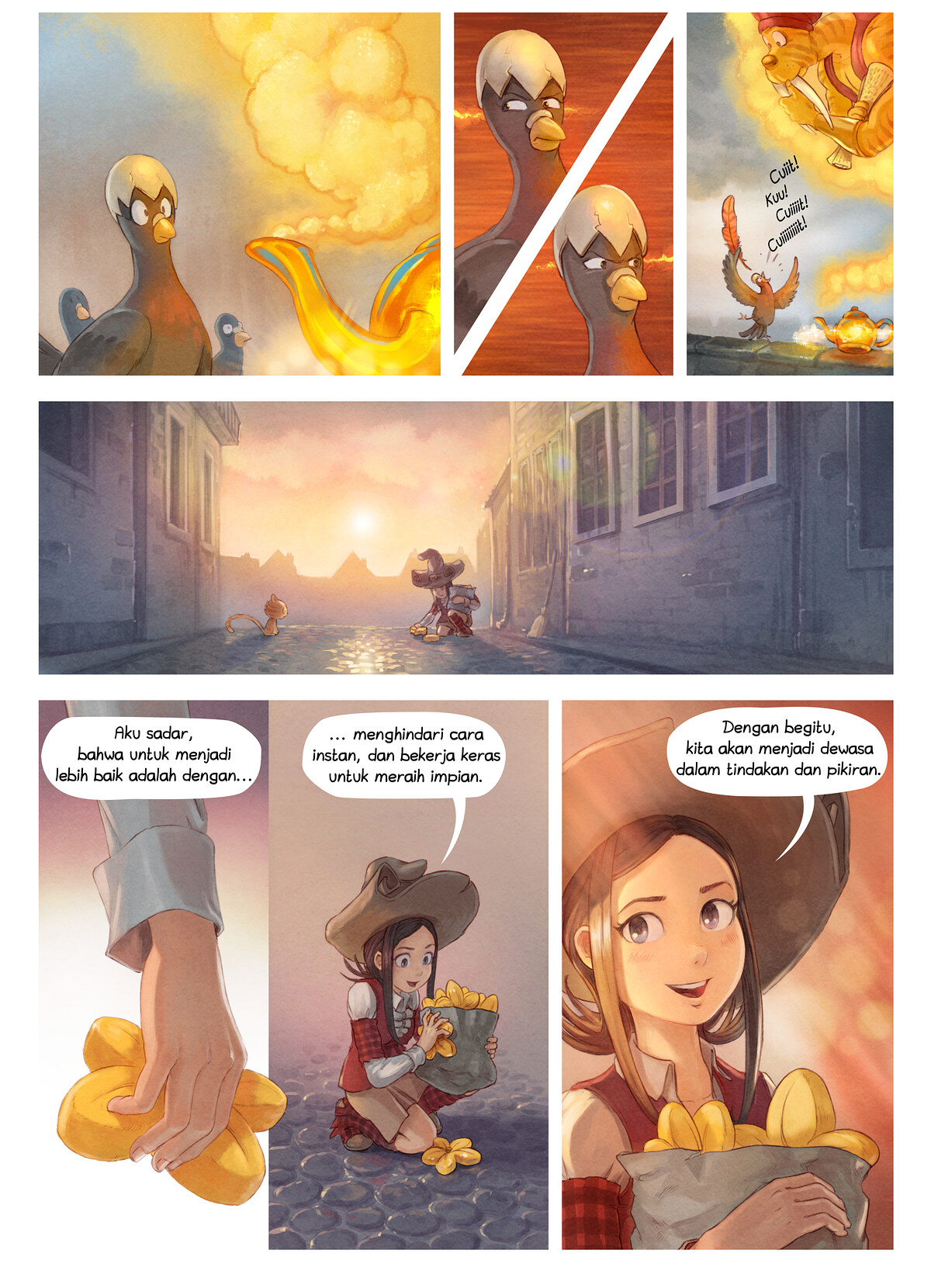 A webcomic page of Pepper&Carrot, episode 23 [id], halaman 6