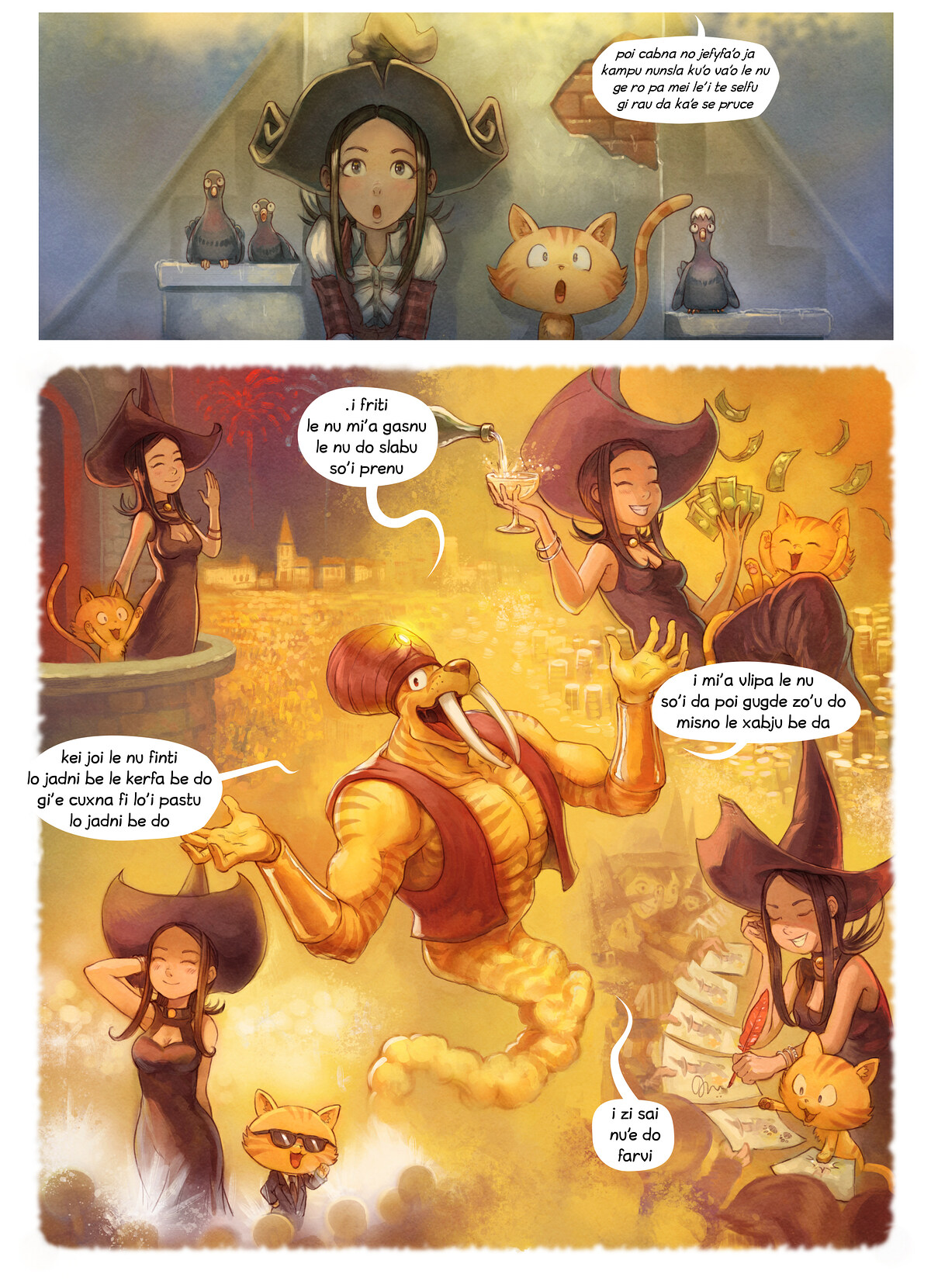A webcomic page of Pepper&Carrot, pagbu 23 [jb], papri 4