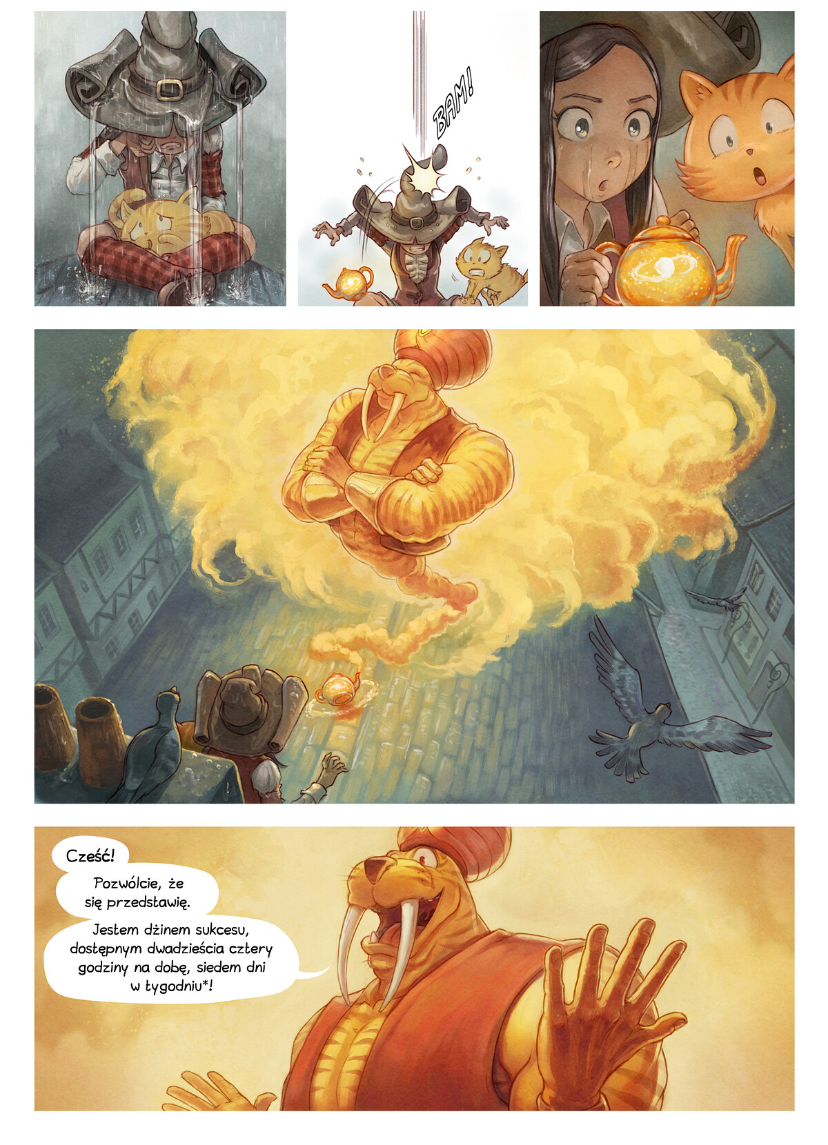 A webcomic page of Pepper&Carrot, odcinek 23 [pl], strona 3