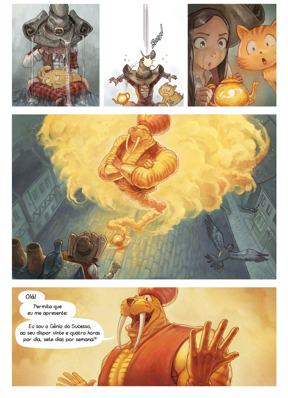 A webcomic page of Pepper&Carrot, episódio 23 [pt], página 3