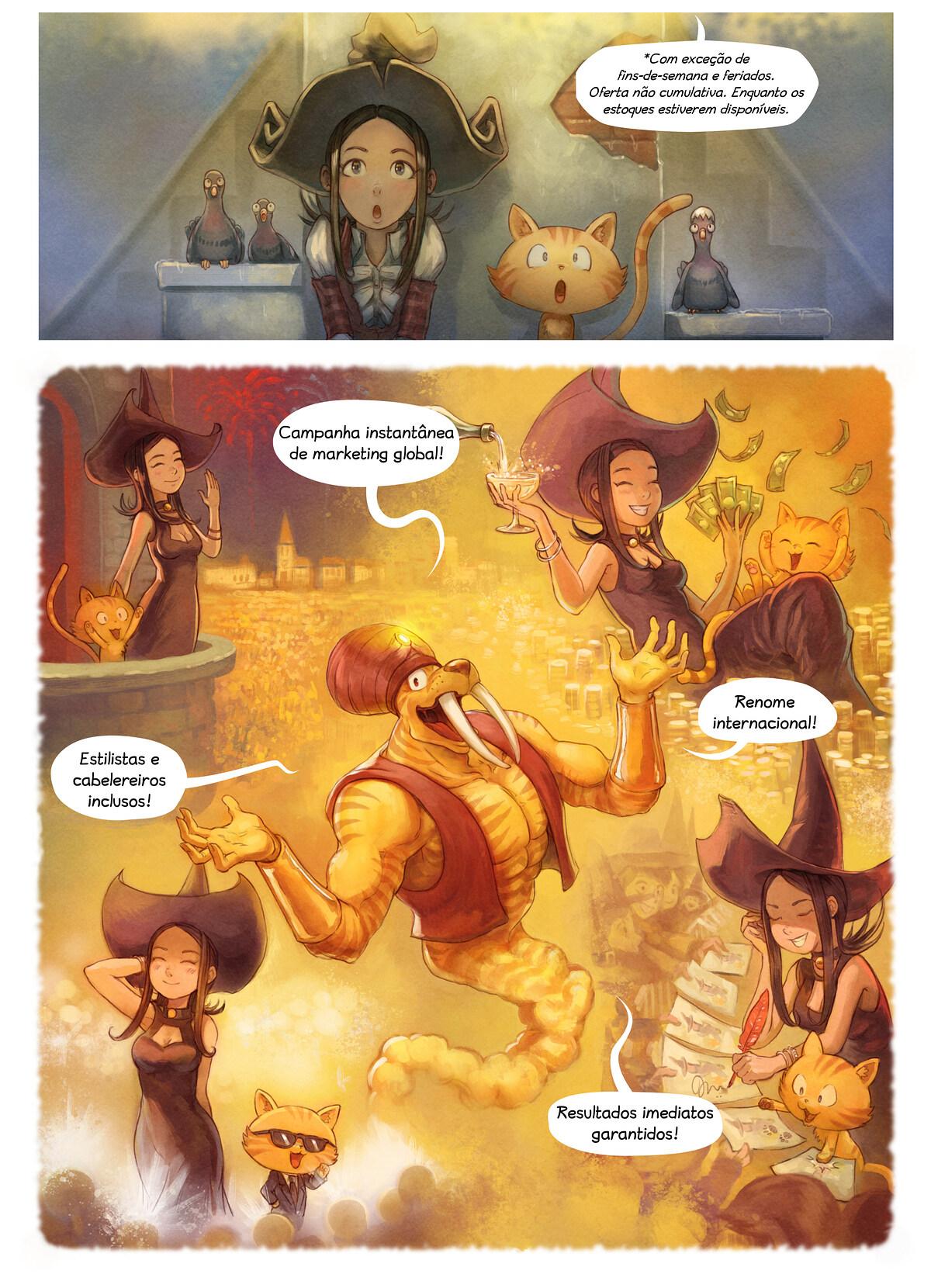 A webcomic page of Pepper&Carrot, episódio 23 [pt], página 4