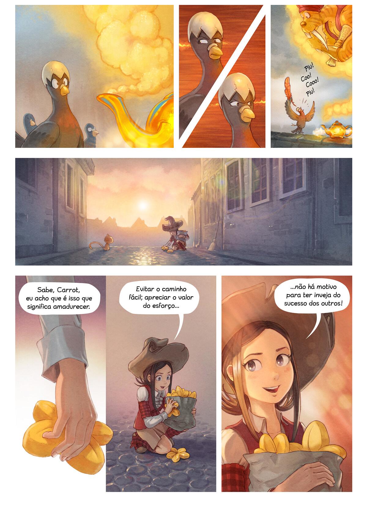 A webcomic page of Pepper&Carrot, episódio 23 [pt], página 6