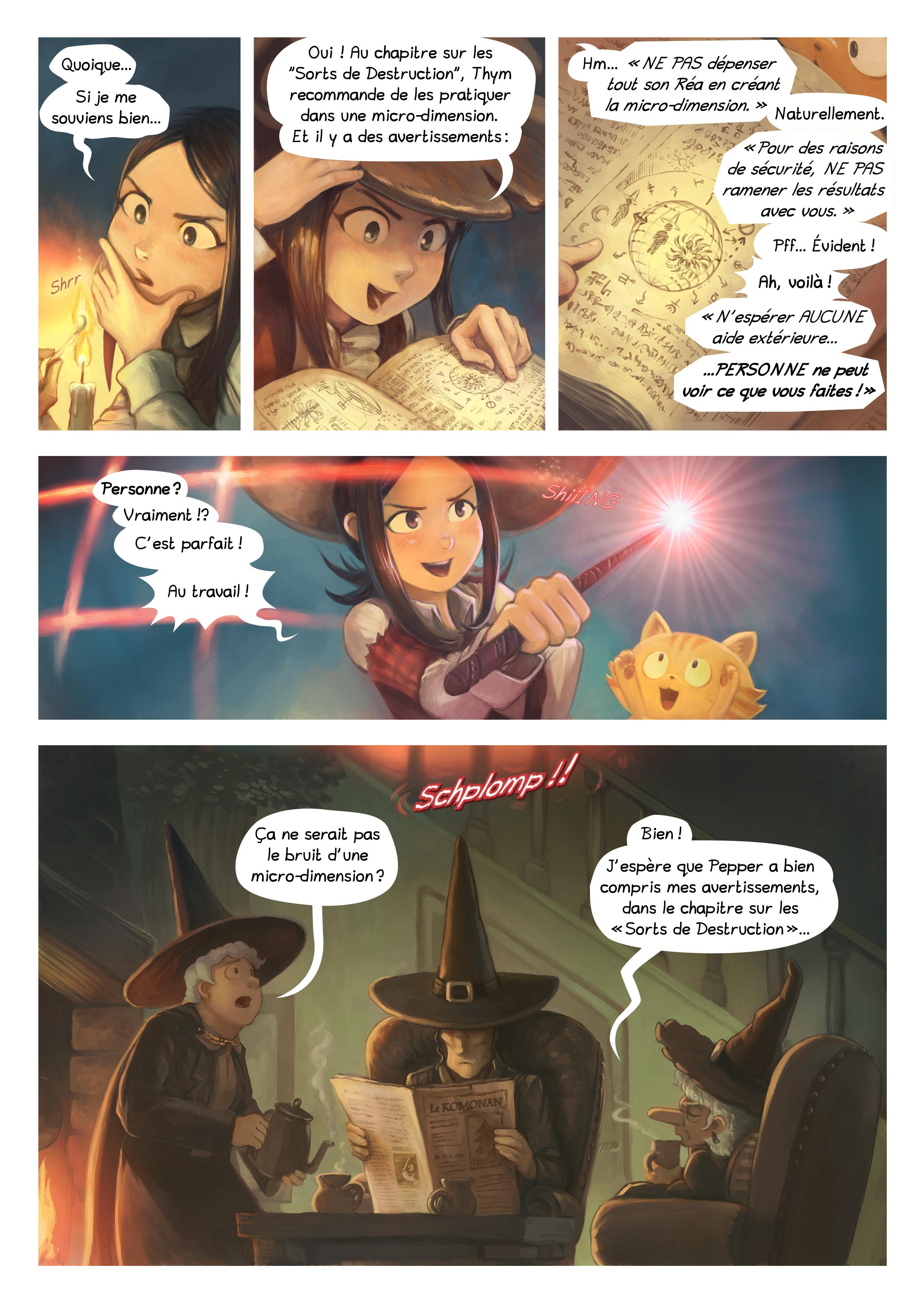 A webcomic page of Pepper&Carrot, épisode 24 [fr], page 3
