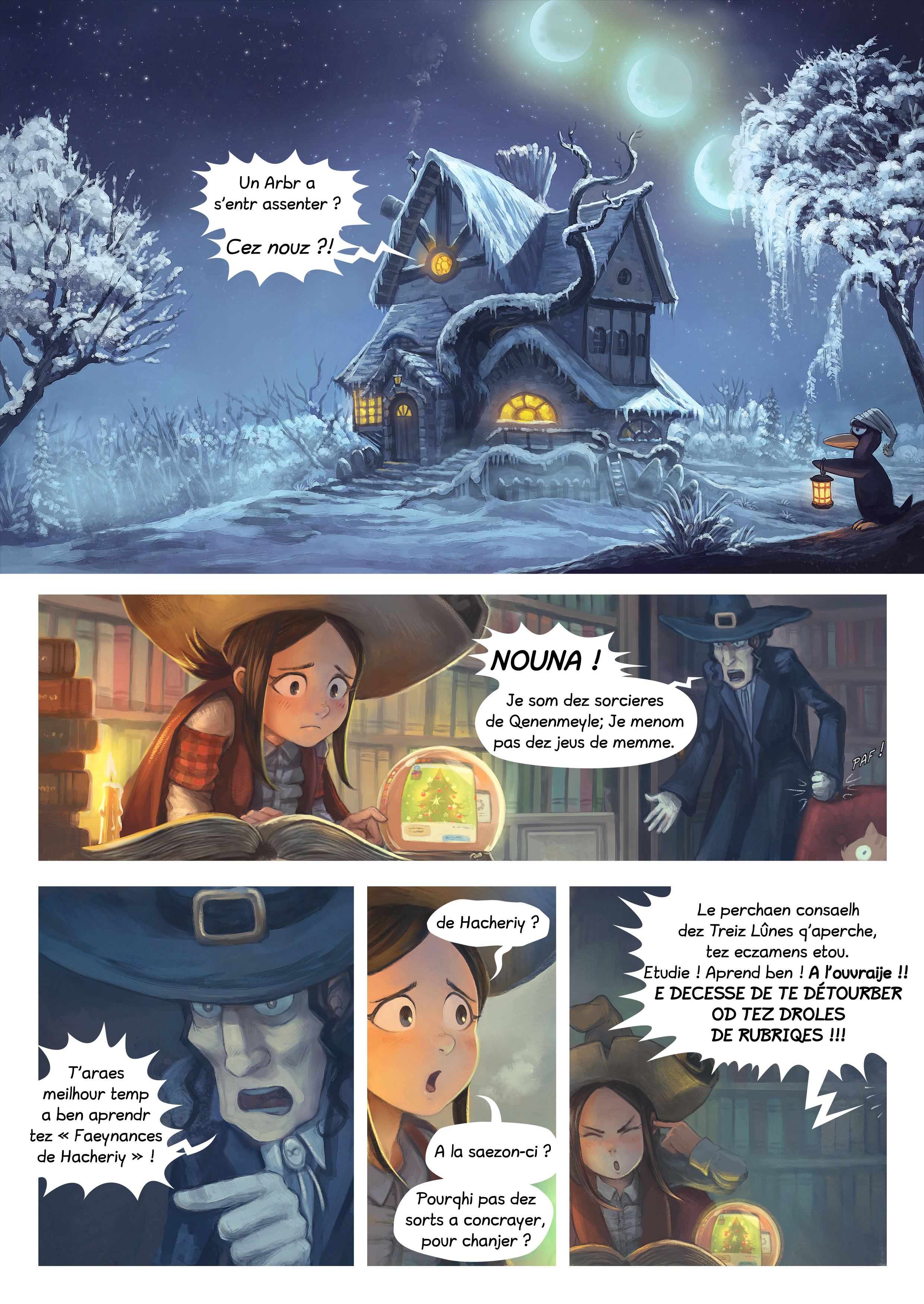A webcomic page of Pepper&Carrot, episode 24 [go], page 1