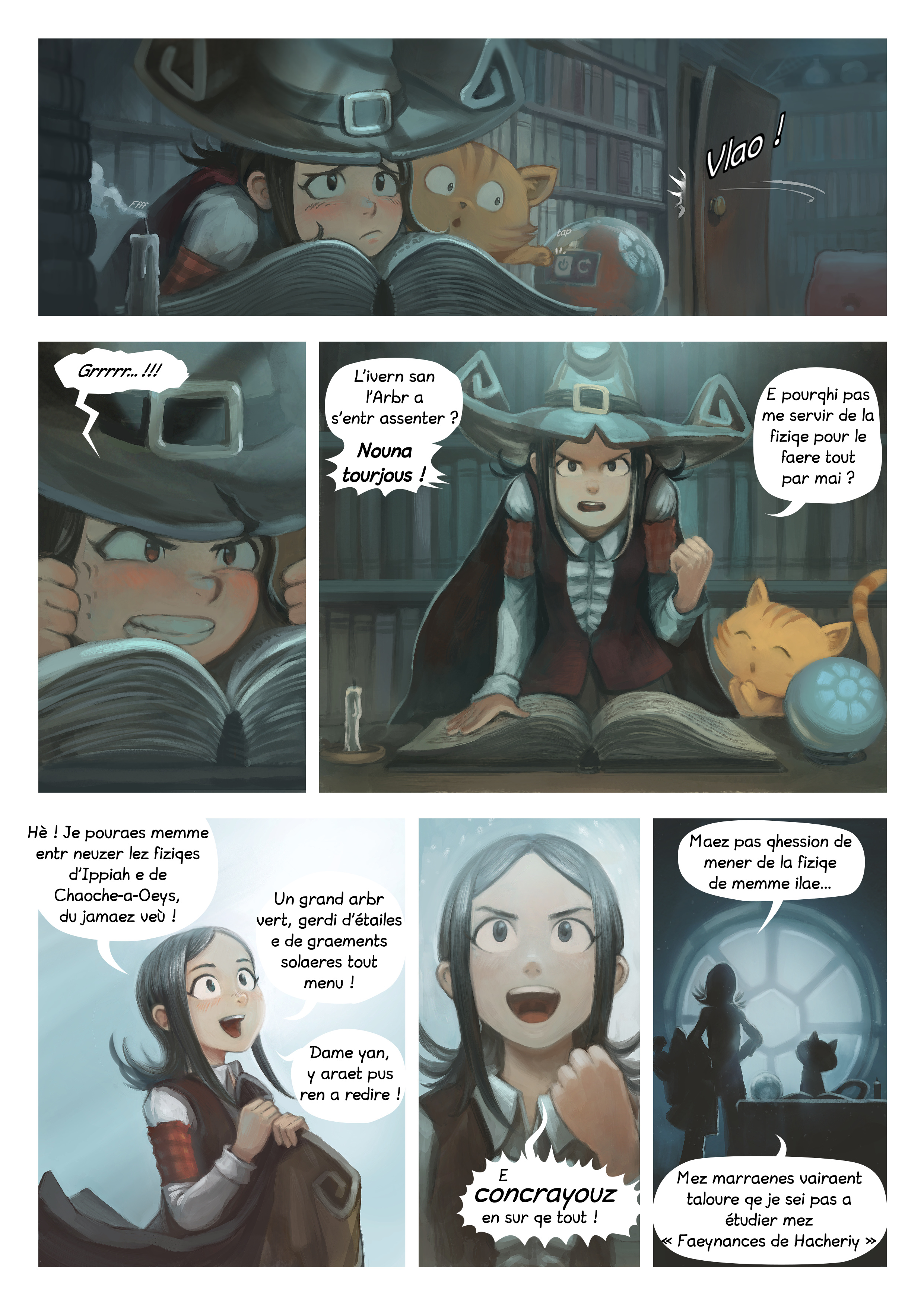 A webcomic page of Pepper&Carrot, episode 24 [go], page 2