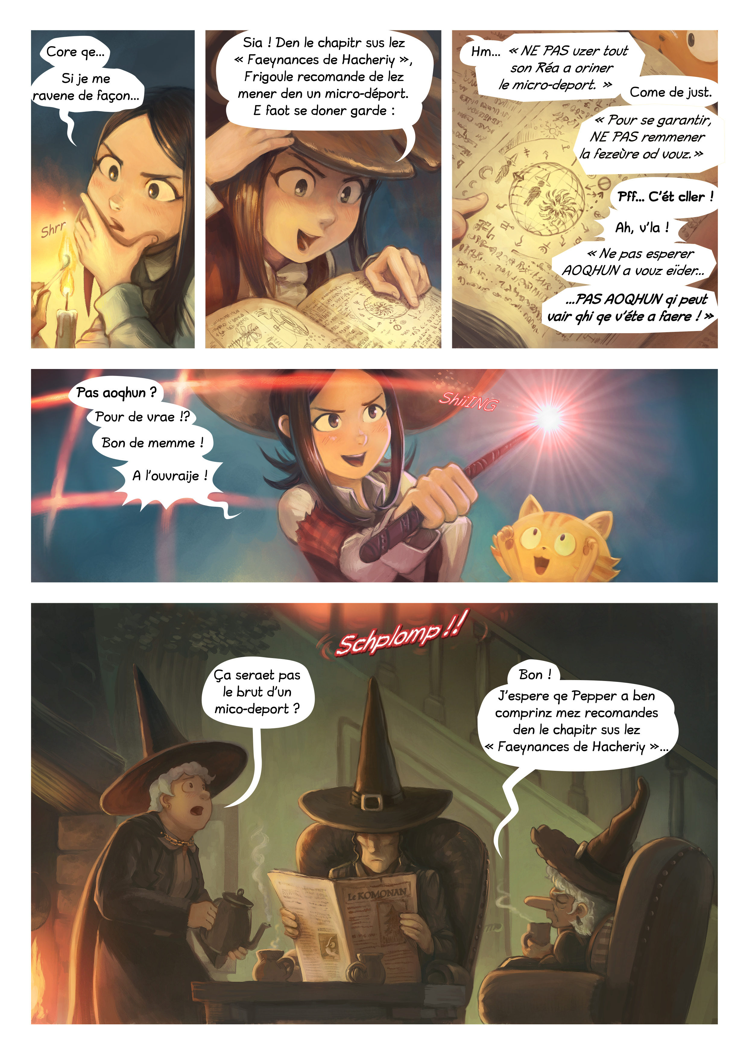 A webcomic page of Pepper&Carrot, episode 24 [go], page 3