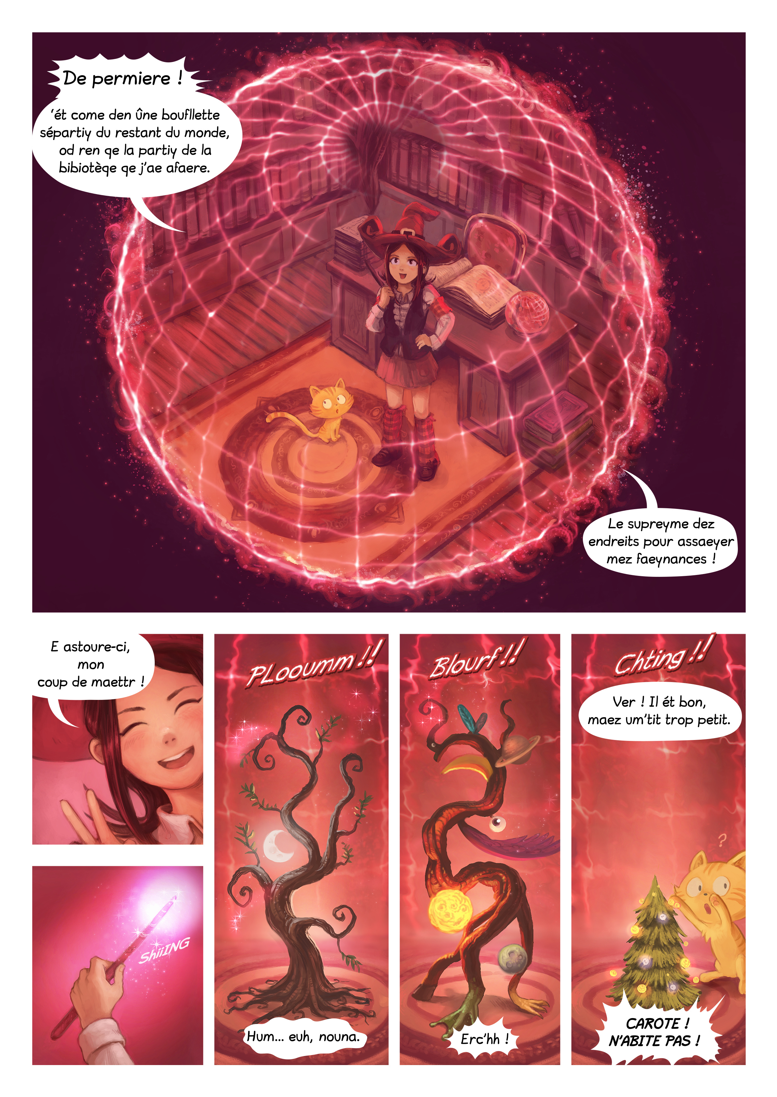 A webcomic page of Pepper&Carrot, episode 24 [go], page 4