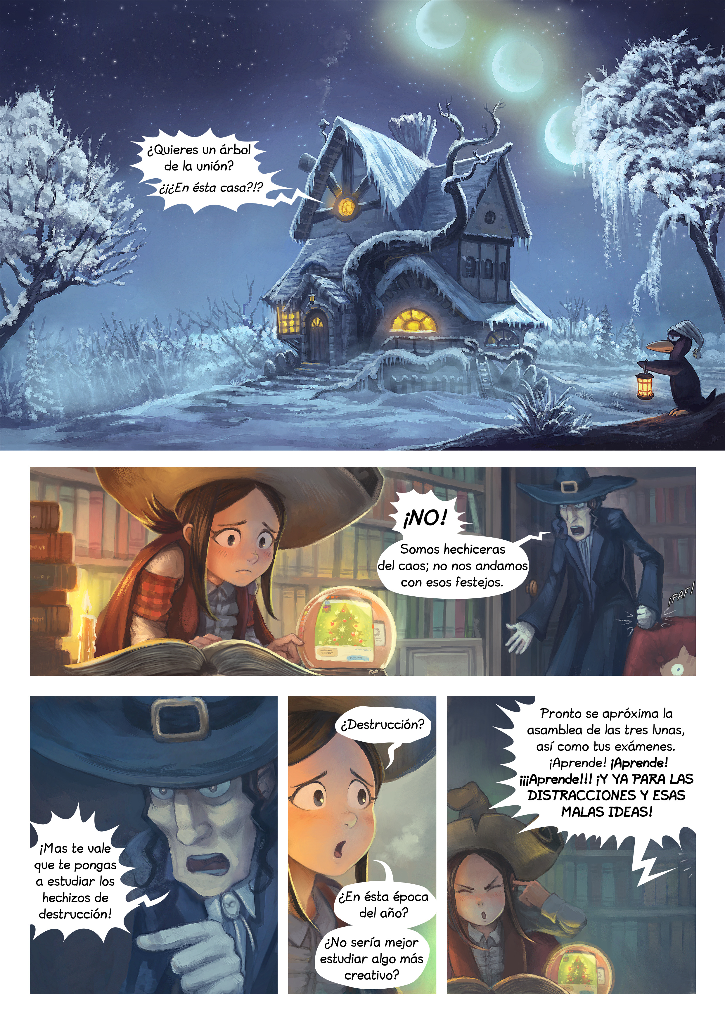 A webcomic page of Pepper&Carrot, episode 24 [mx], page 1