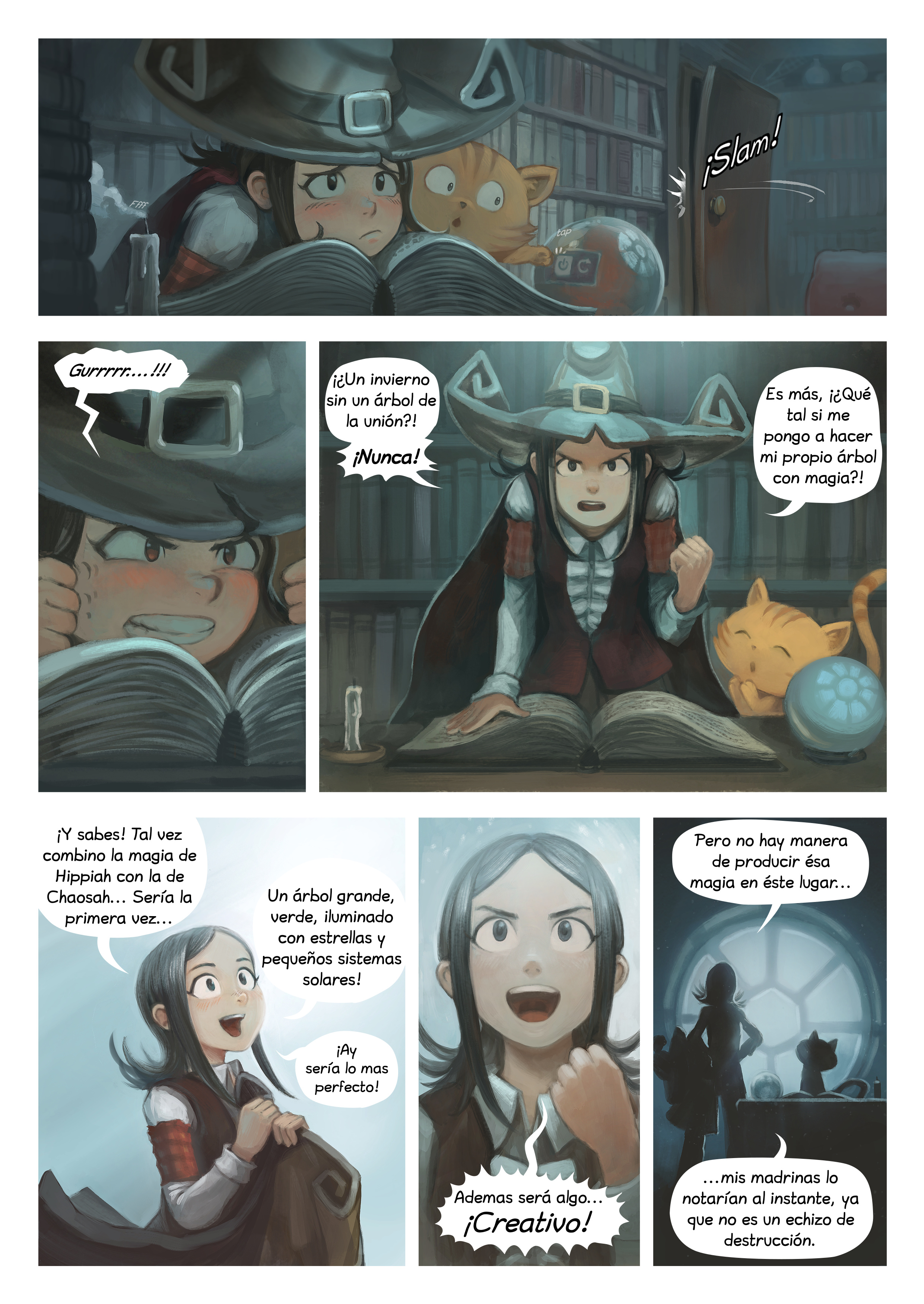A webcomic page of Pepper&Carrot, episode 24 [mx], page 2