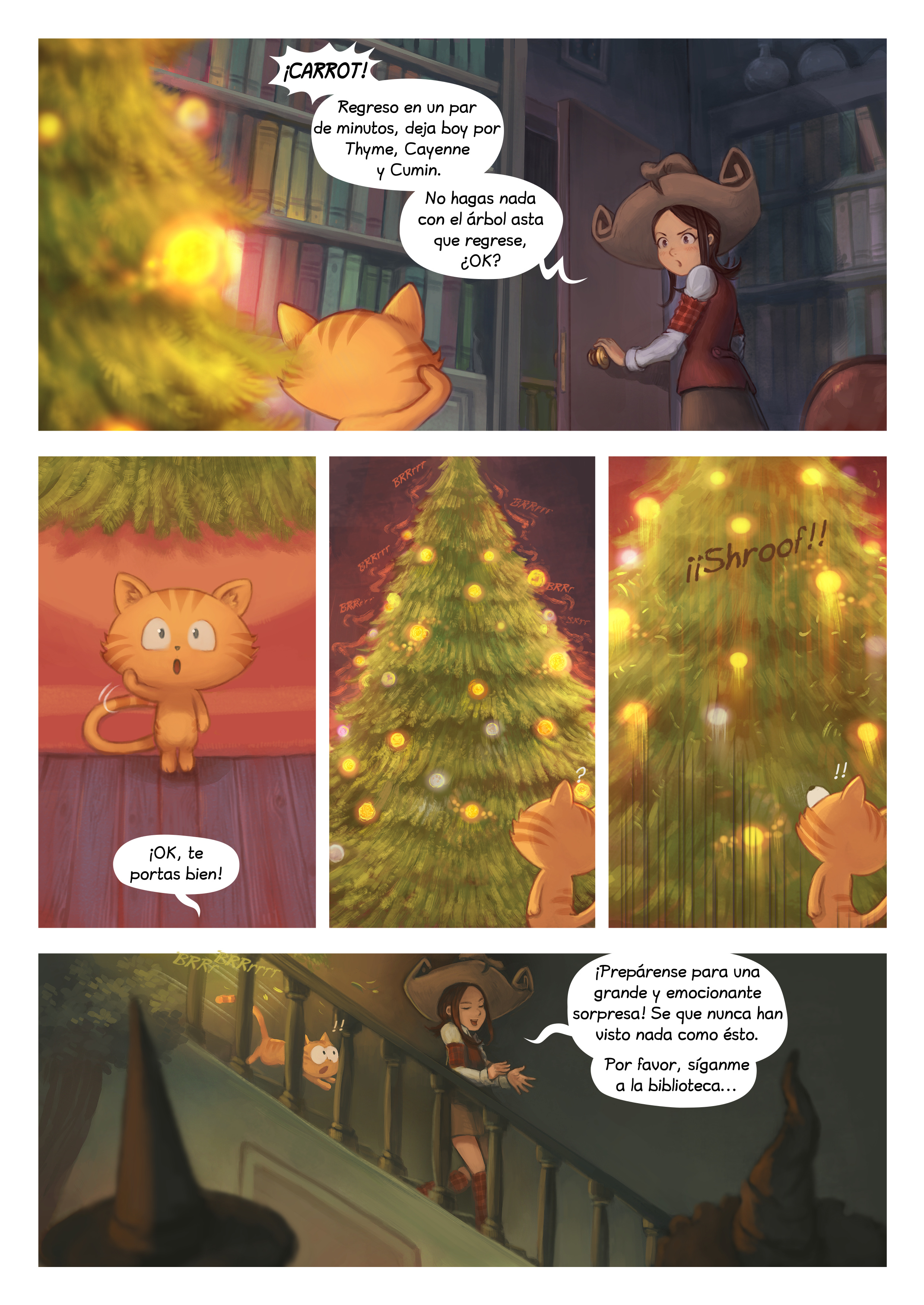 A webcomic page of Pepper&Carrot, episode 24 [mx], page 6