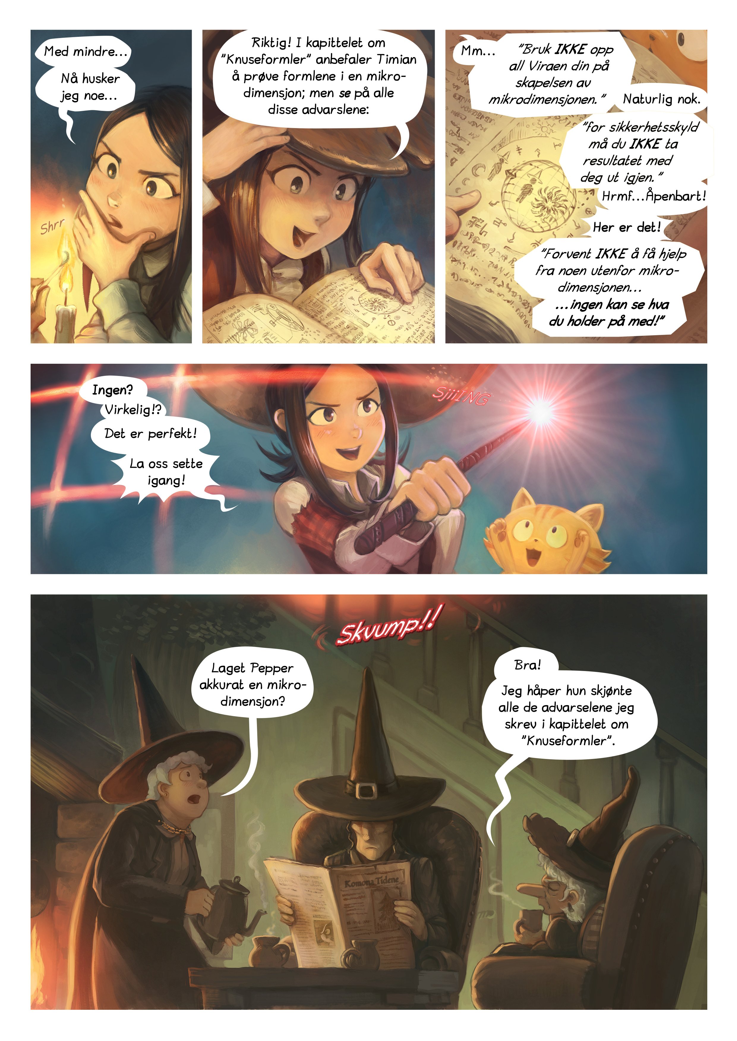 A webcomic page of Pepper&Carrot, episode 24 [no], side 3