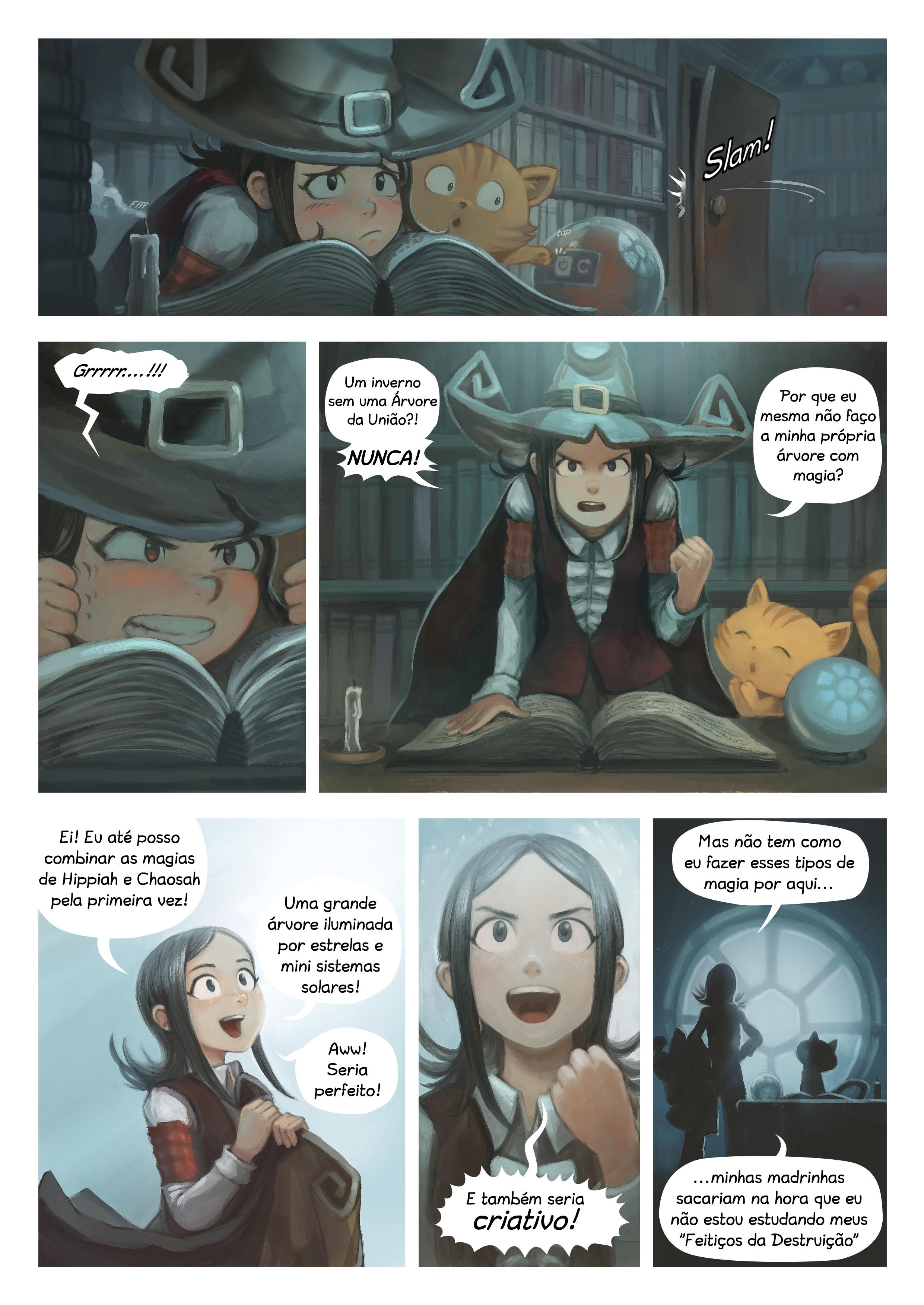A webcomic page of Pepper&Carrot, episódio 24 [pt], página 2