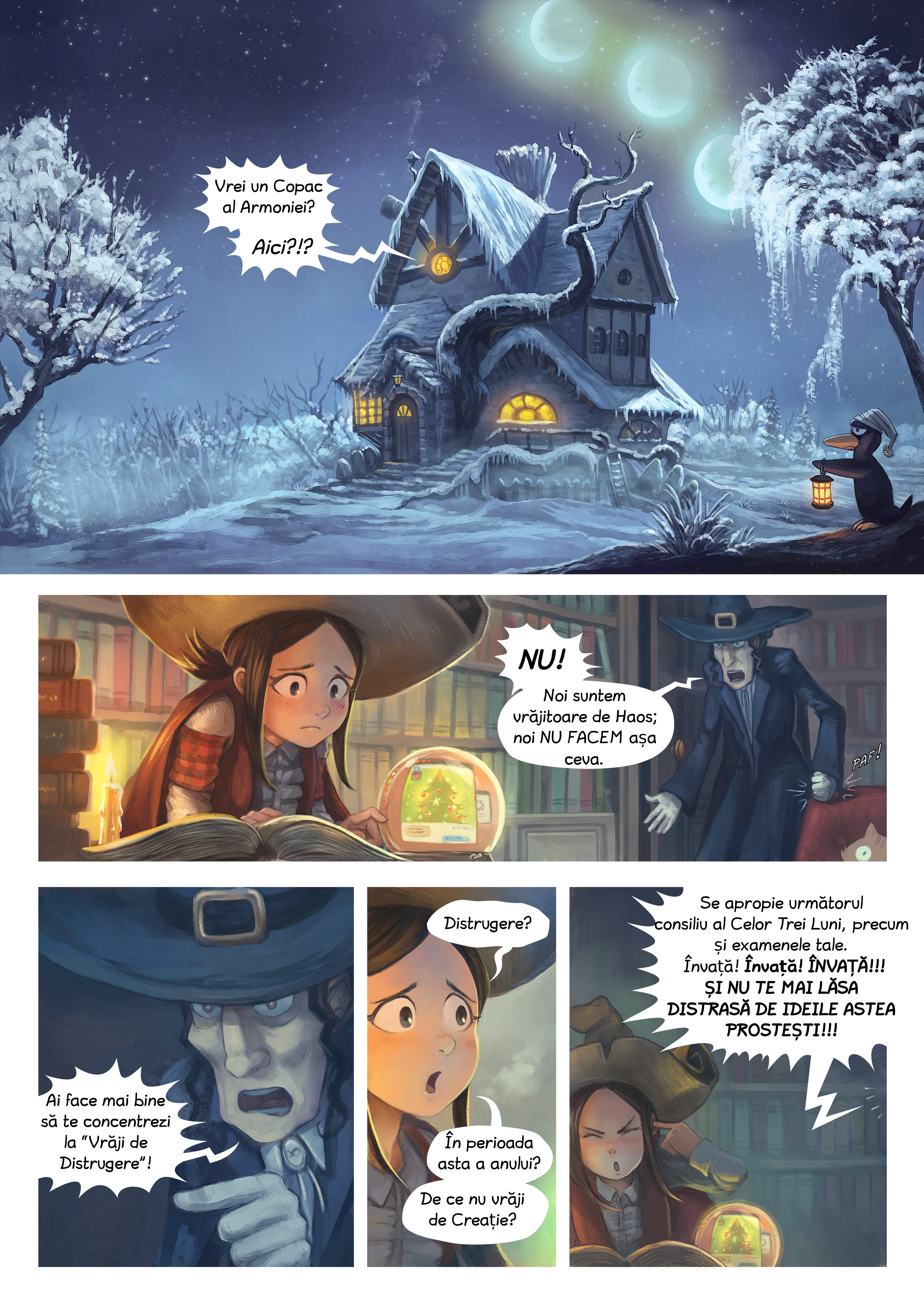 A webcomic page of Pepper&Carrot, episod 24 [ro], pagină 1