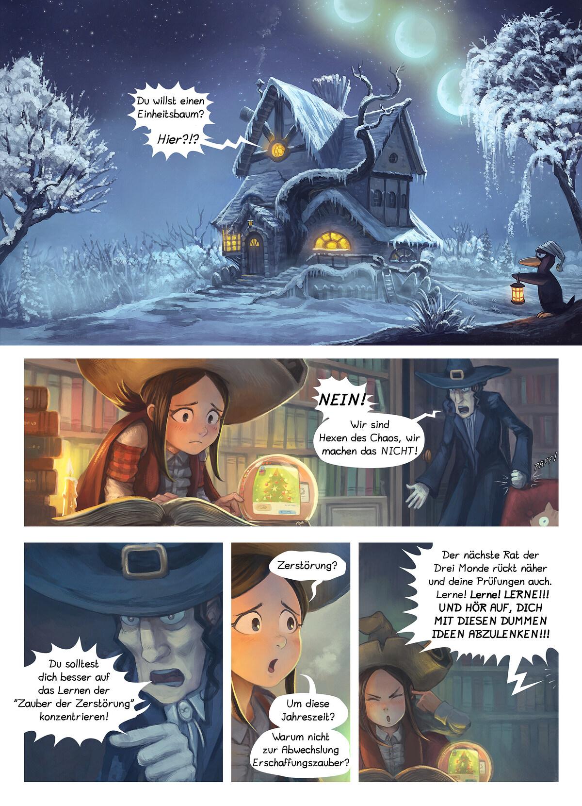 A webcomic page of Pepper&Carrot, Episode 24 [de], Seite 1