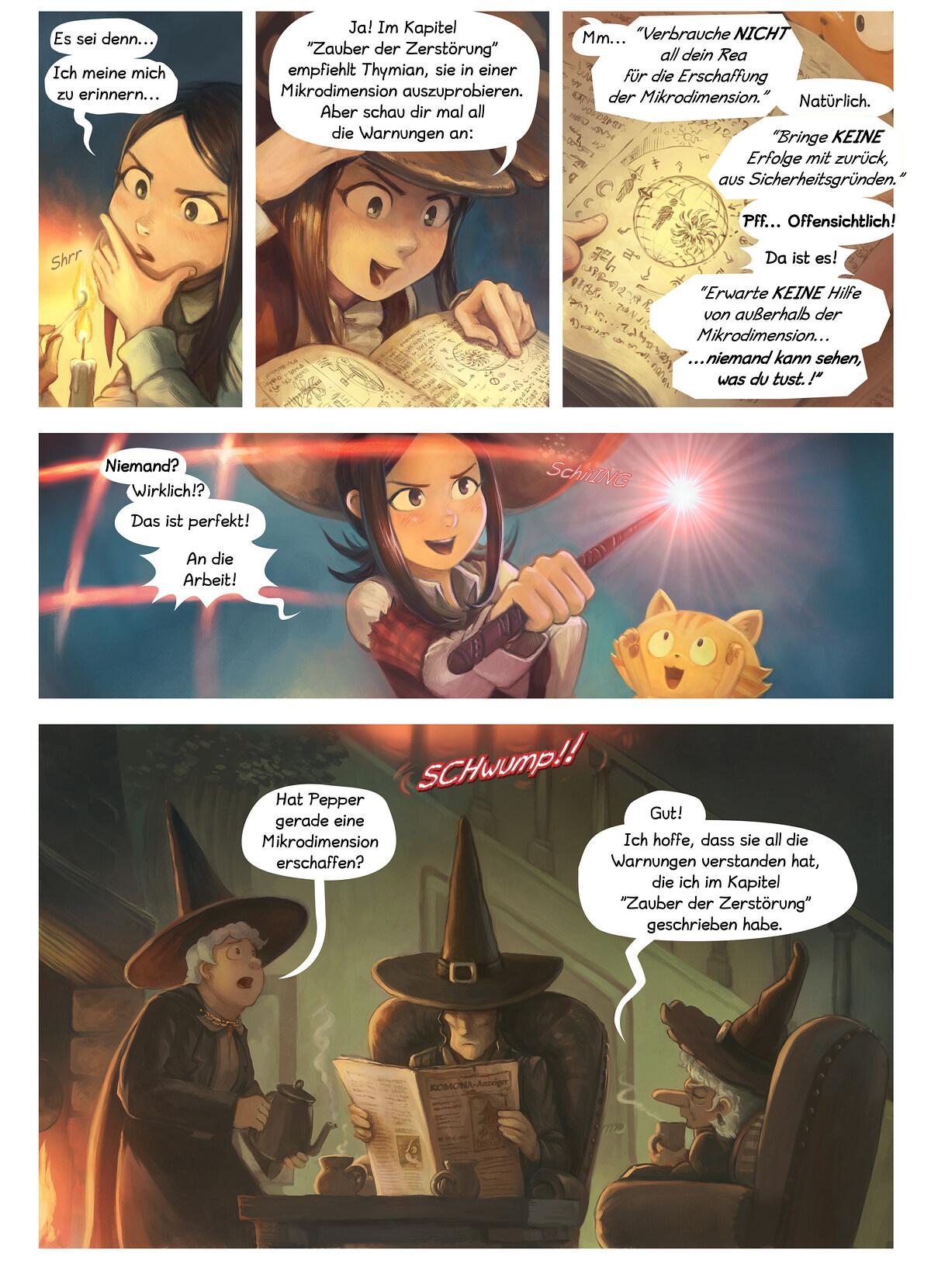 A webcomic page of Pepper&Carrot, Episode 24 [de], Seite 3
