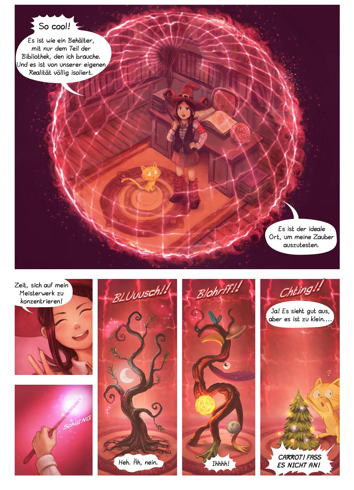 A webcomic page of Pepper&Carrot, Episode 24 [de], Seite 4