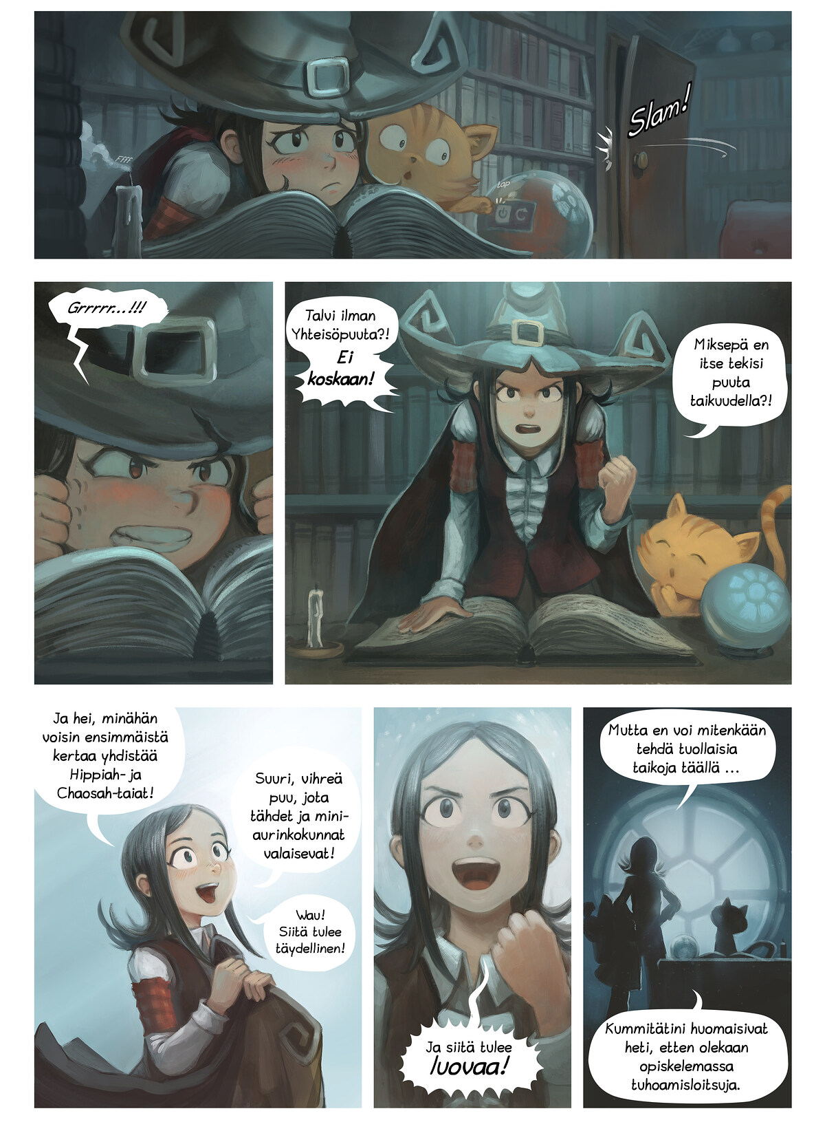 A webcomic page of Pepper&Carrot, episode 24 [fi], page 2