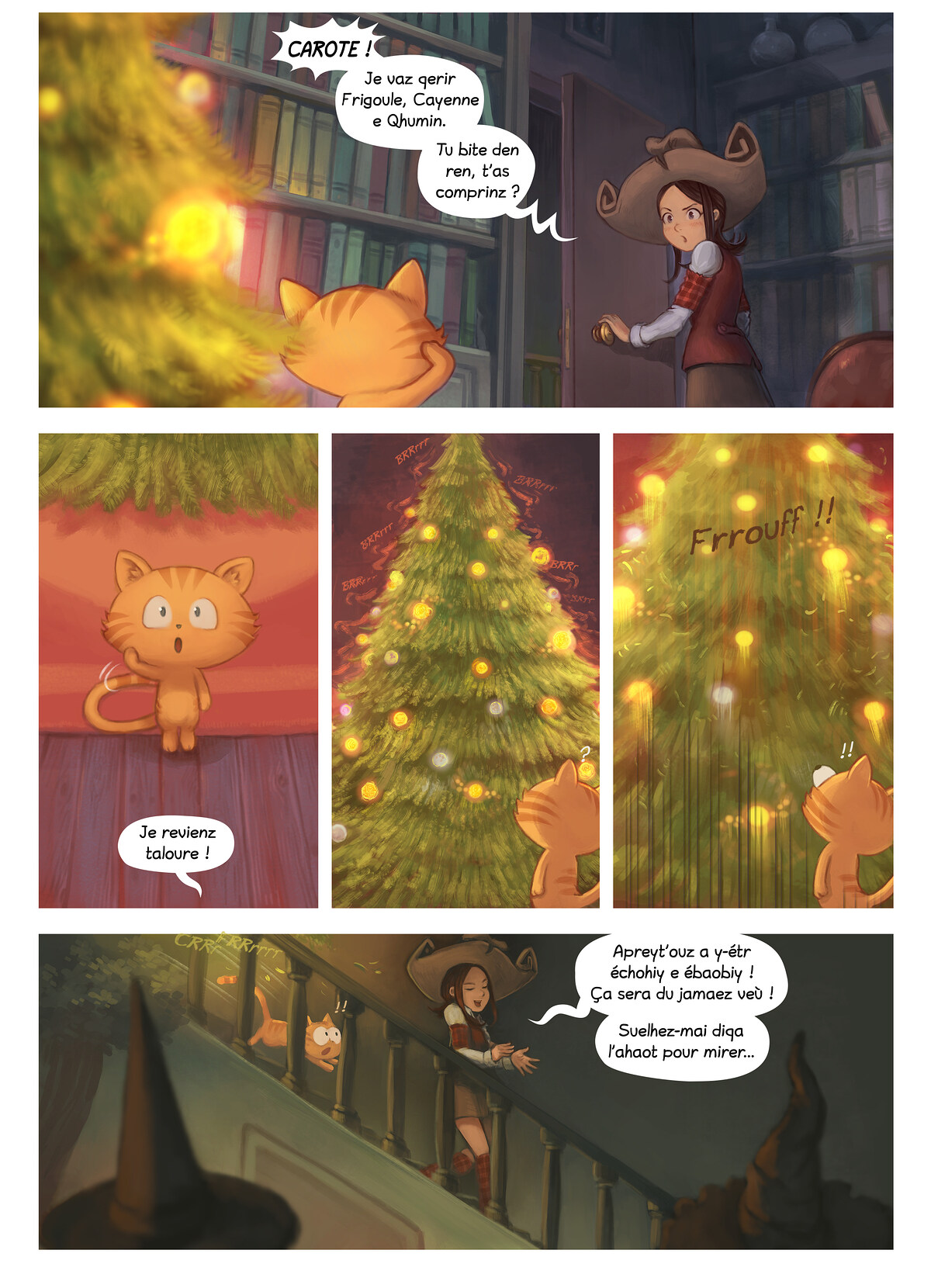A webcomic page of Pepper&Carrot, episode 24 [go], page 6