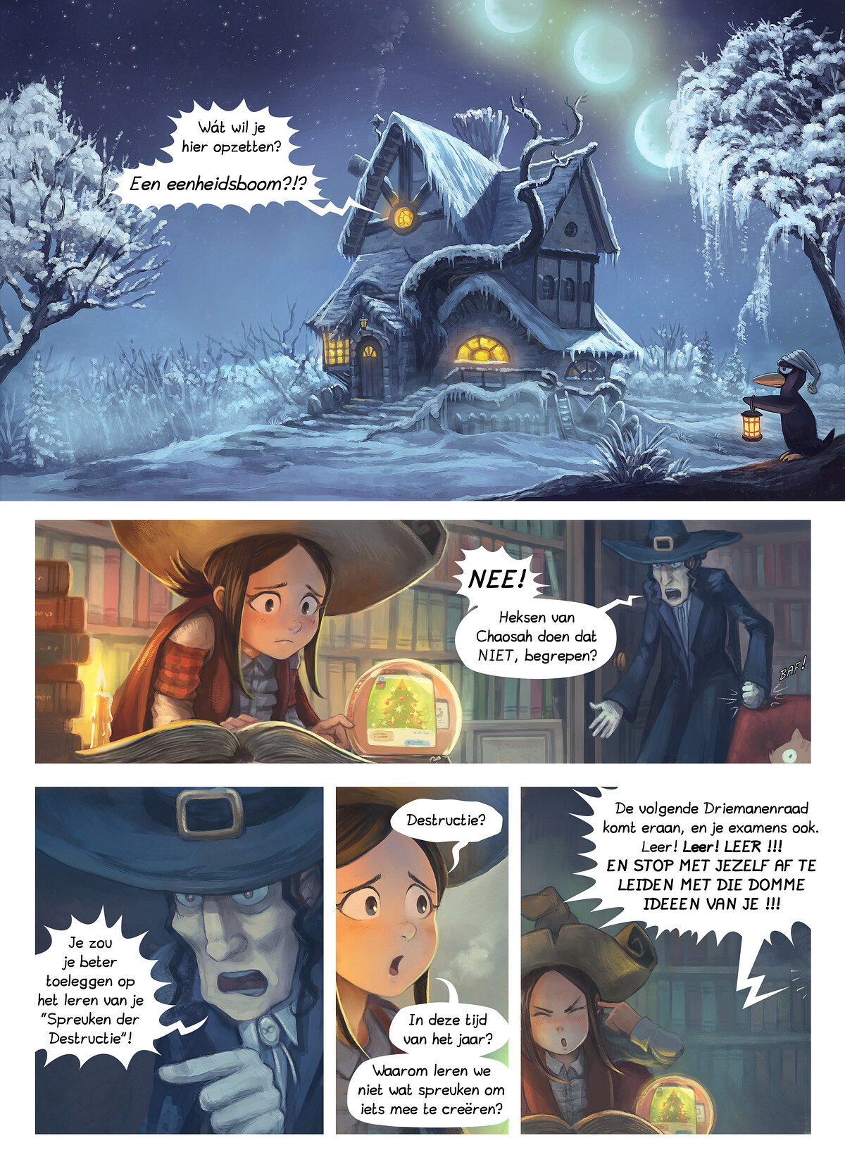 A webcomic page of Pepper&Carrot, aflevering 24 [nl], pagina 1