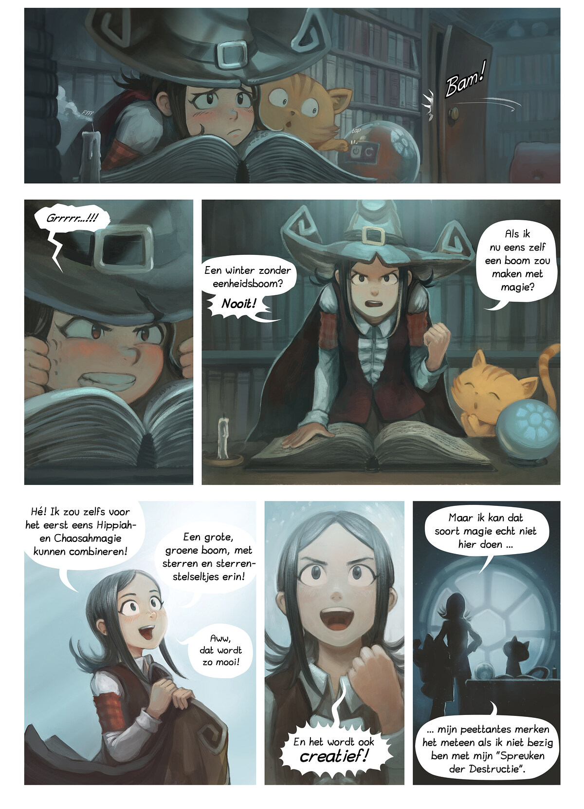 A webcomic page of Pepper&Carrot, aflevering 24 [nl], pagina 2