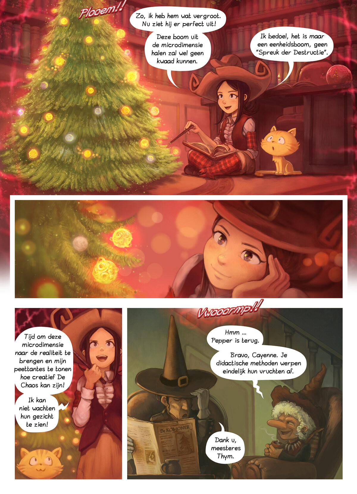 A webcomic page of Pepper&Carrot, aflevering 24 [nl], pagina 5