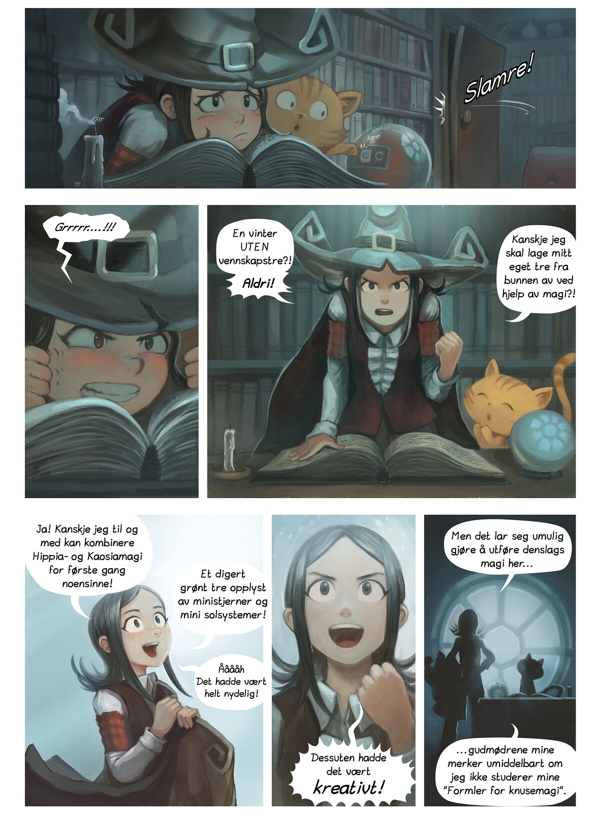 A webcomic page of Pepper&Carrot, episode 2 , side 2