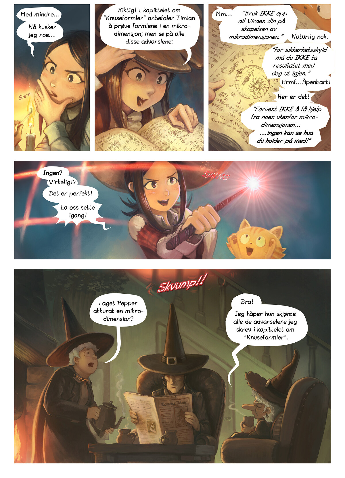 A webcomic page of Pepper&Carrot, episode 3 , side 3