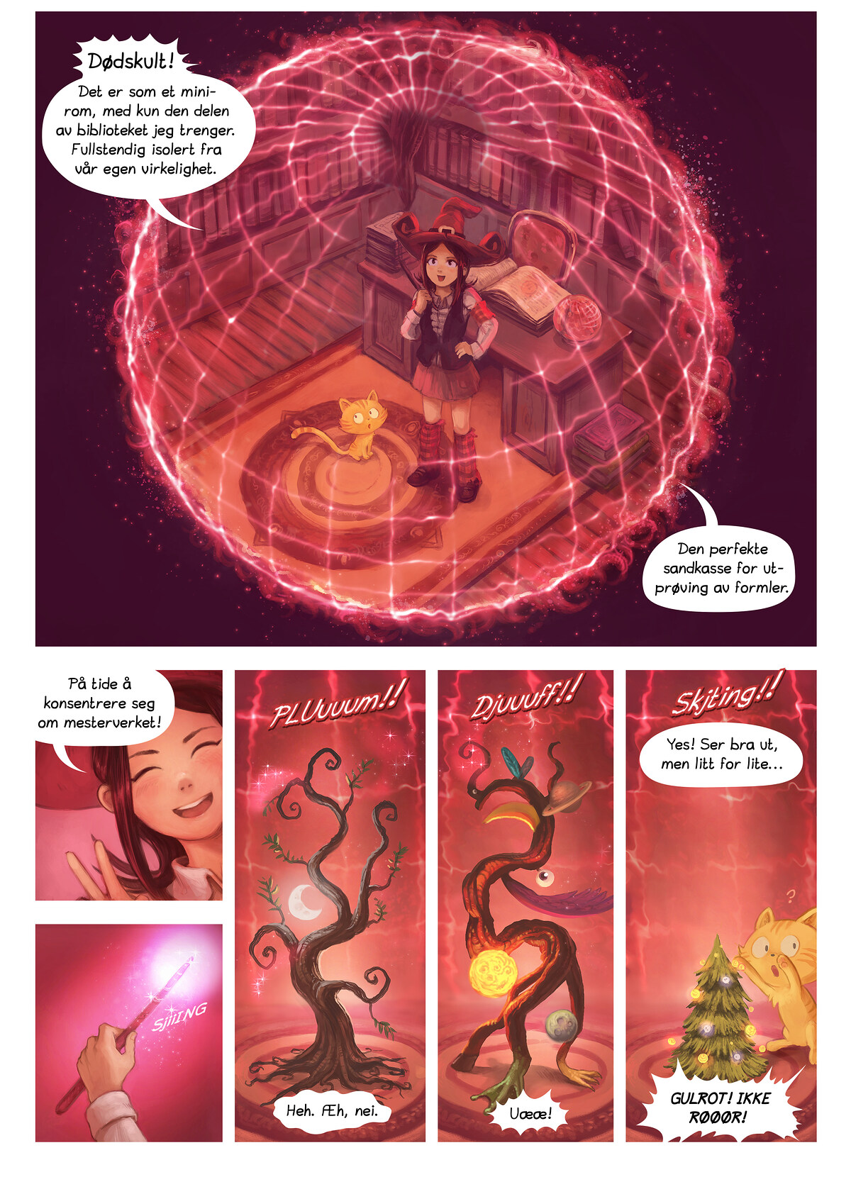 A webcomic page of Pepper&Carrot, episode 4 , side 4