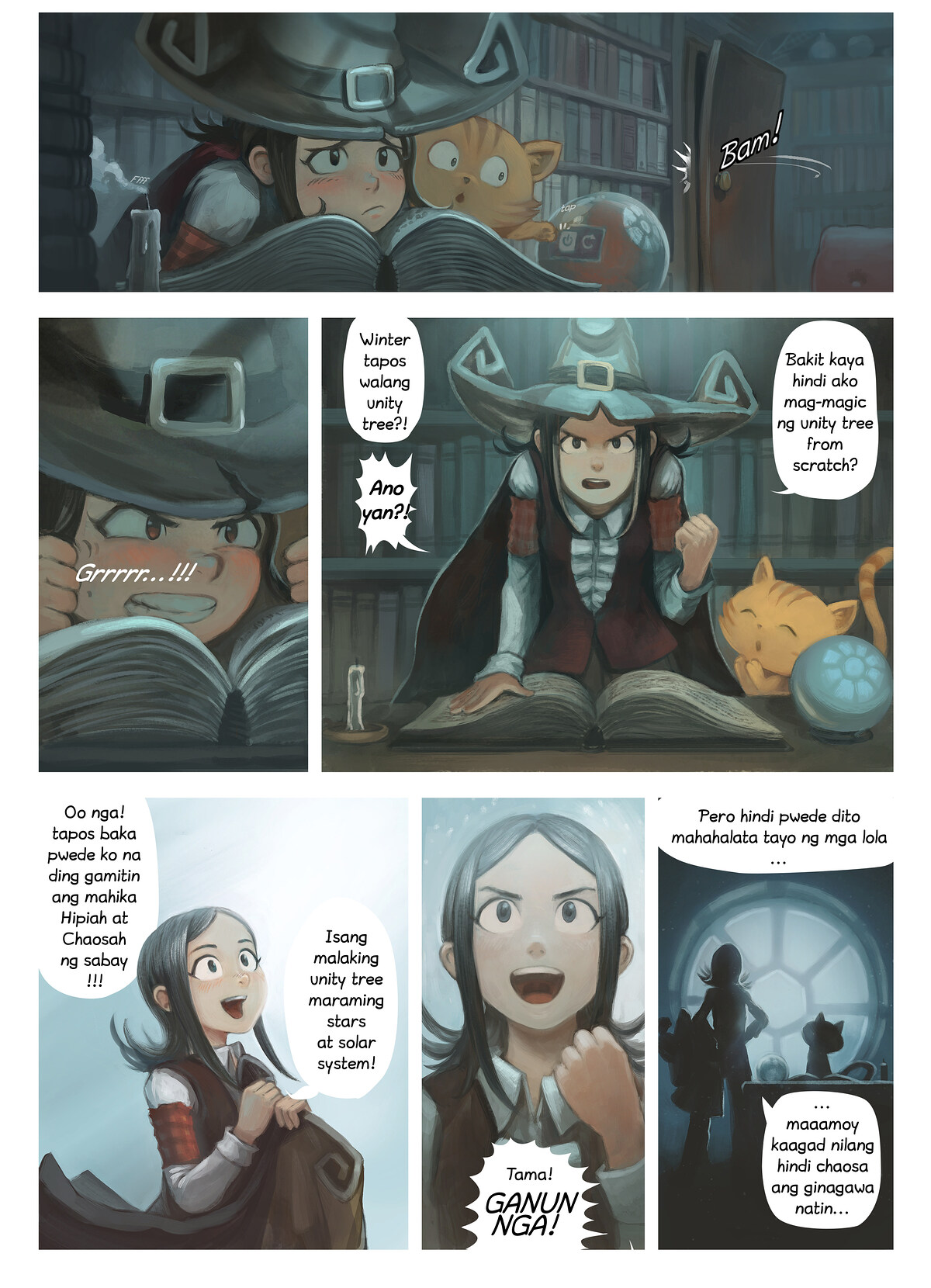 A webcomic page of Pepper&Carrot, episode 24 [ph], page 2