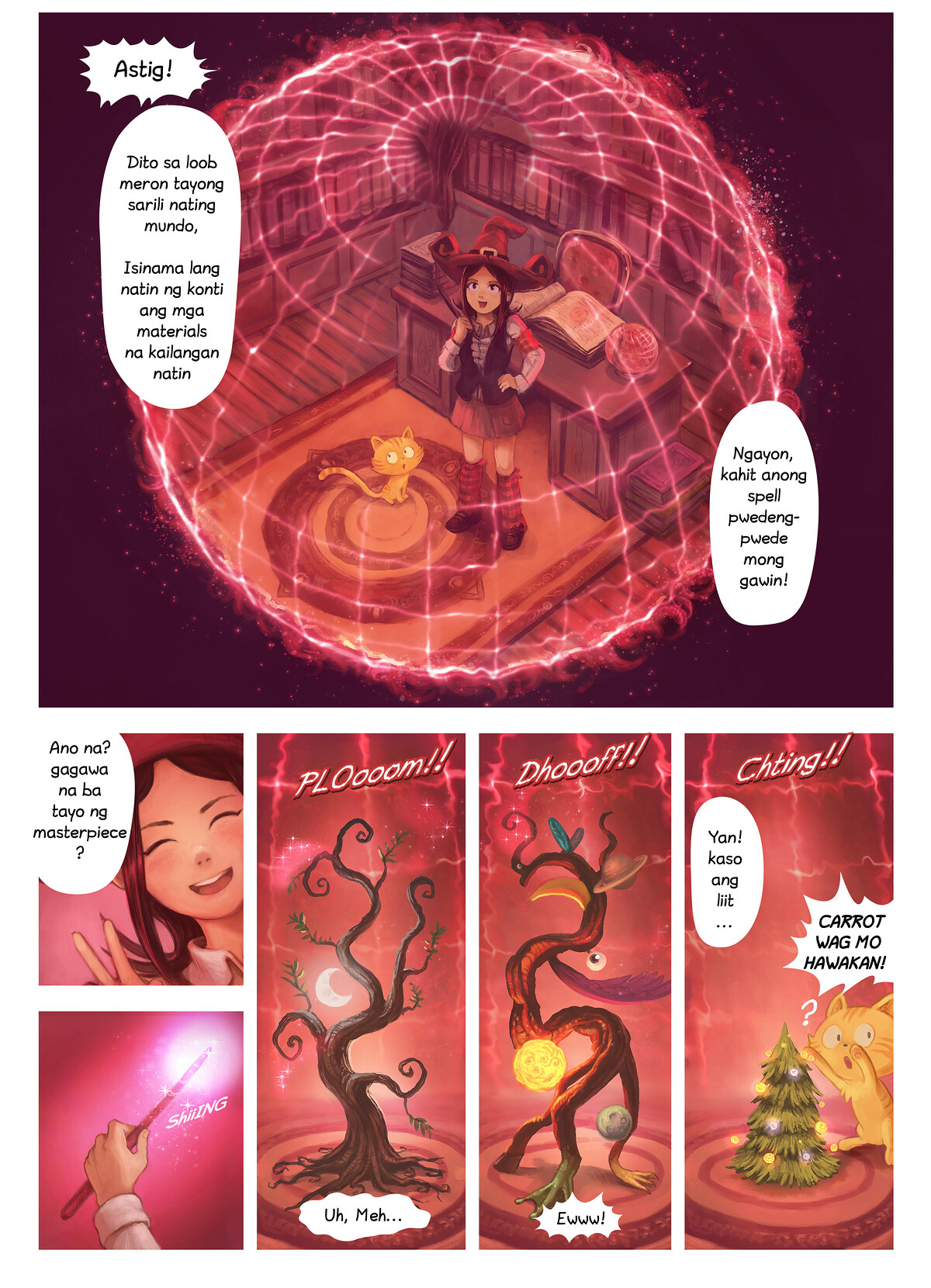 A webcomic page of Pepper&Carrot, episode 24 [ph], page 4