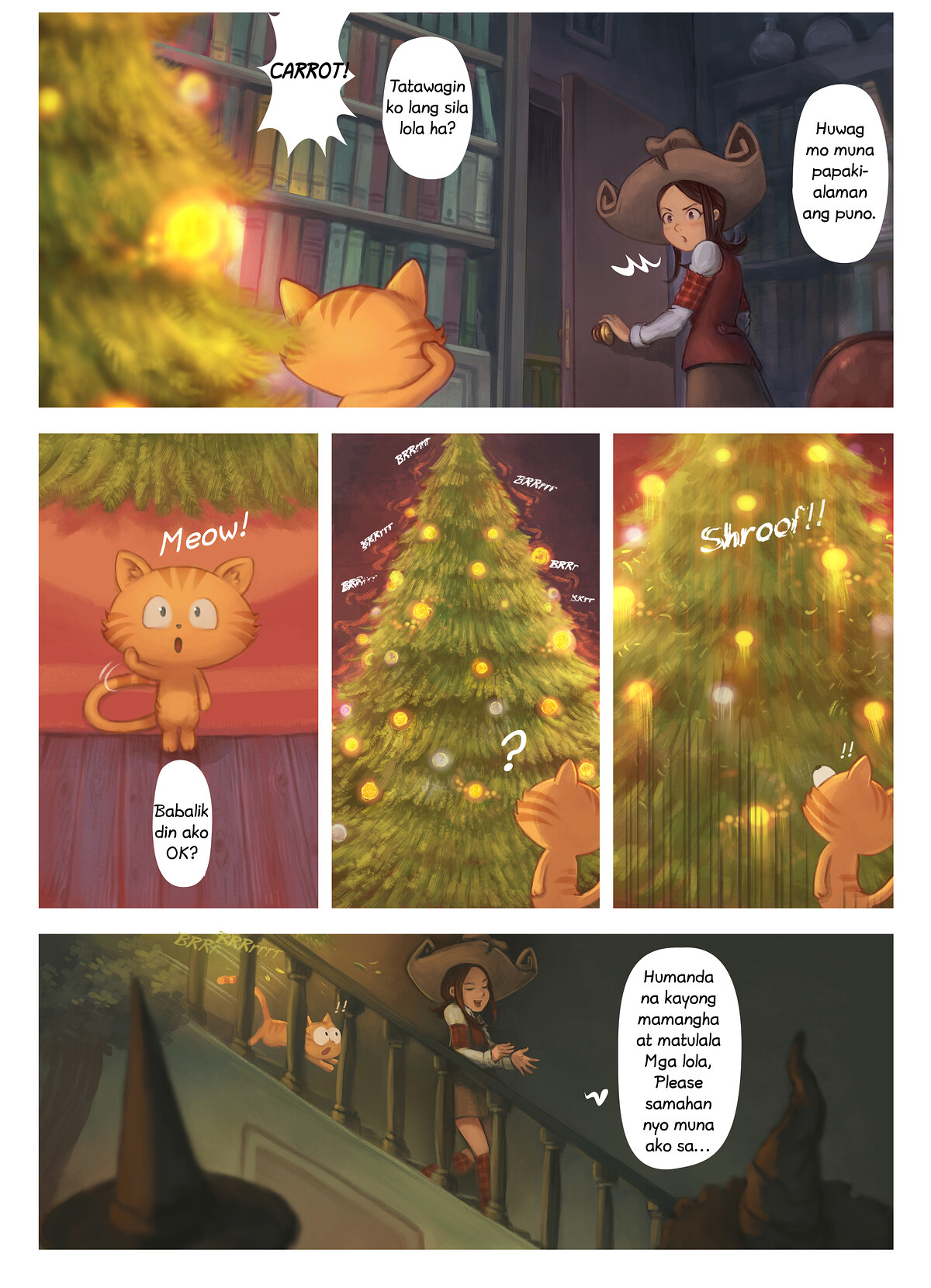 A webcomic page of Pepper&Carrot, episode 24 [ph], page 6