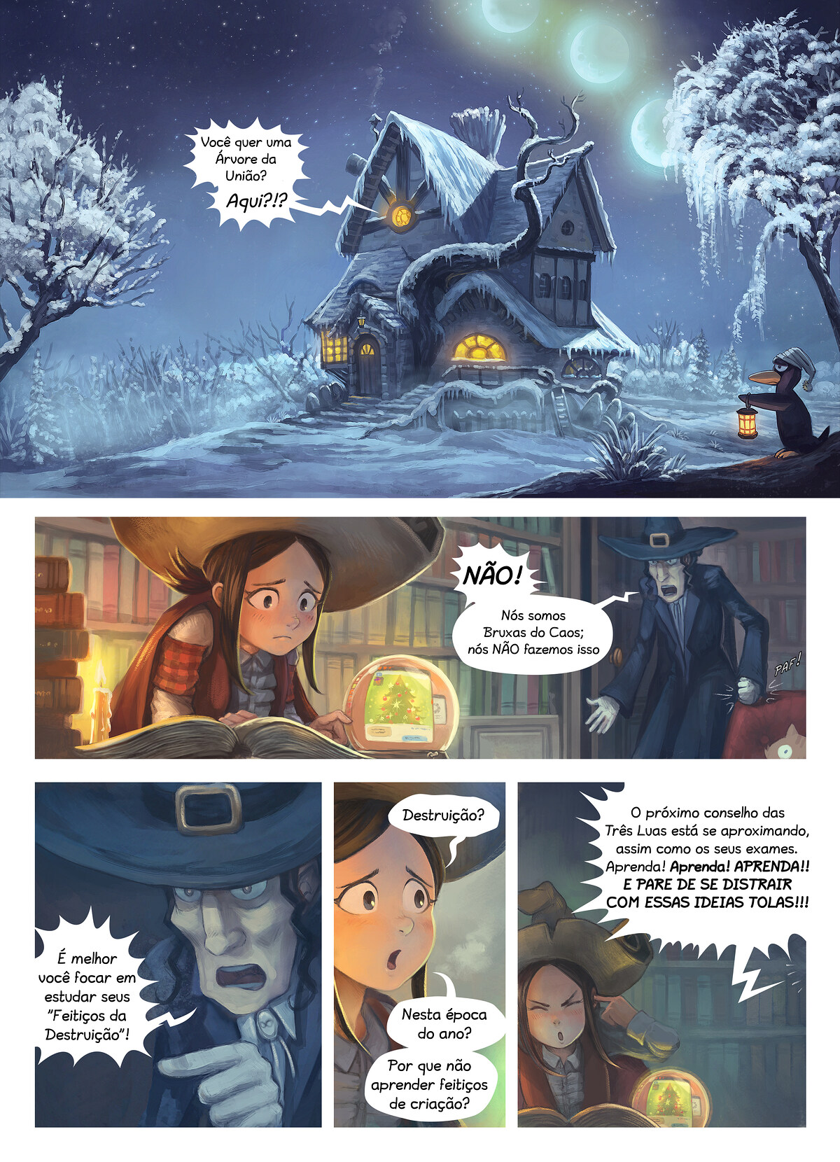 A webcomic page of Pepper&Carrot, episódio 24 [pt], página 1