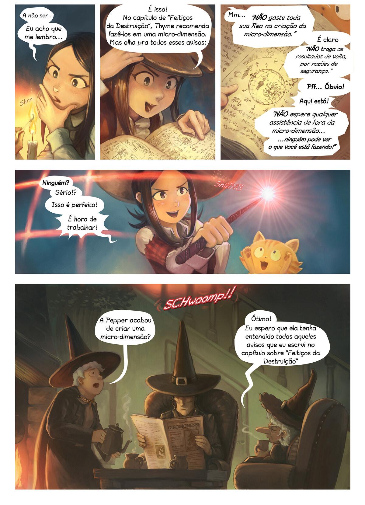 A webcomic page of Pepper&Carrot, episódio 24 [pt], página 3