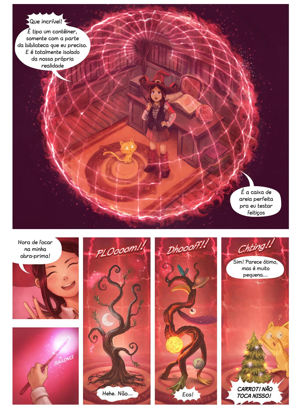 A webcomic page of Pepper&Carrot, episódio 24 [pt], página 4
