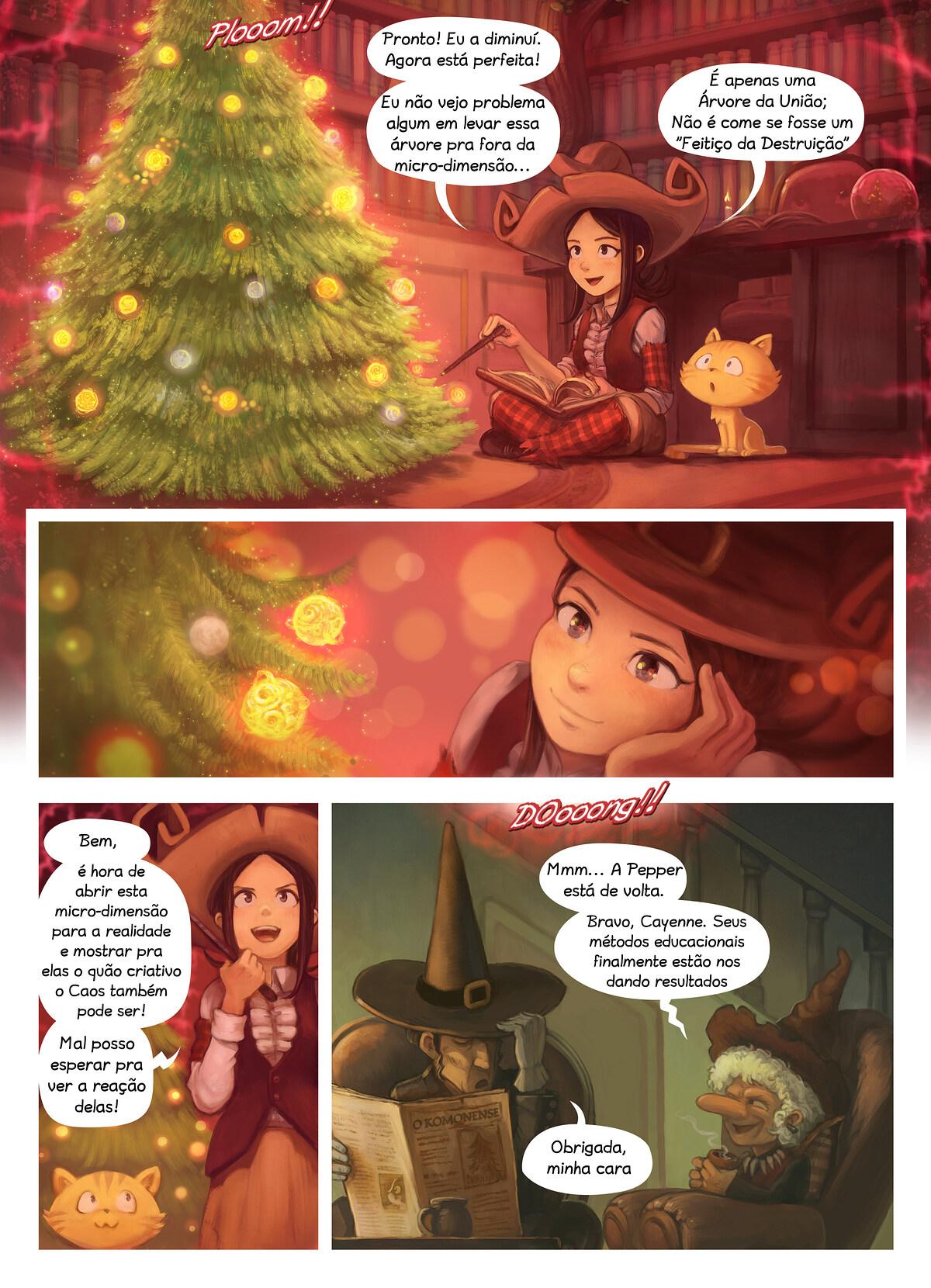 A webcomic page of Pepper&Carrot, episódio 24 [pt], página 5