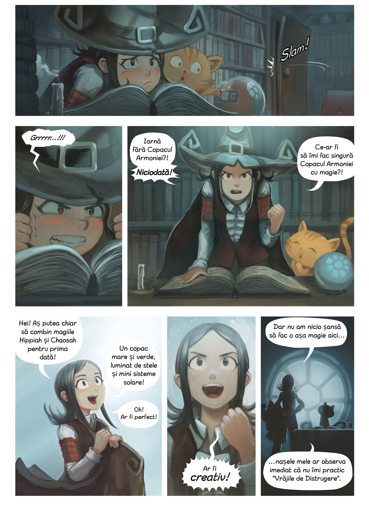 A webcomic page of Pepper&Carrot, episod 24 [ro], pagină 2