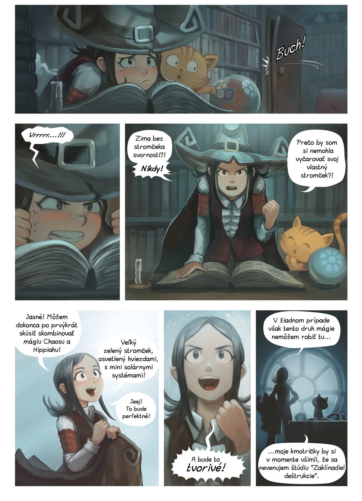 A webcomic page of Pepper&Carrot, episode 24 [sk], page 2