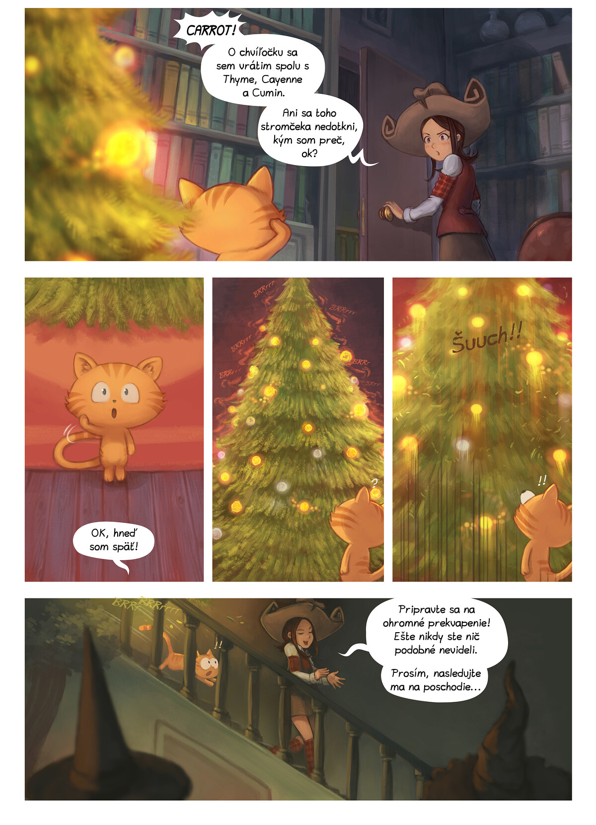 A webcomic page of Pepper&Carrot, episode 24 [sk], page 6