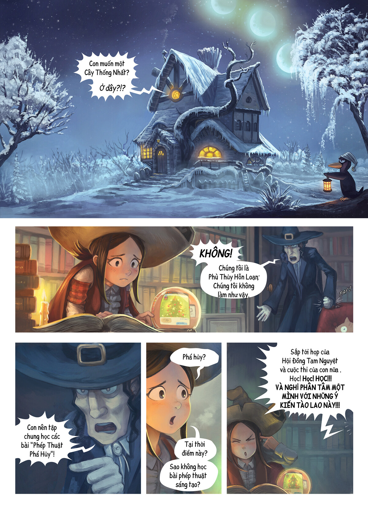 A webcomic page of Pepper&Carrot, Tập 24 [vi], trang 1