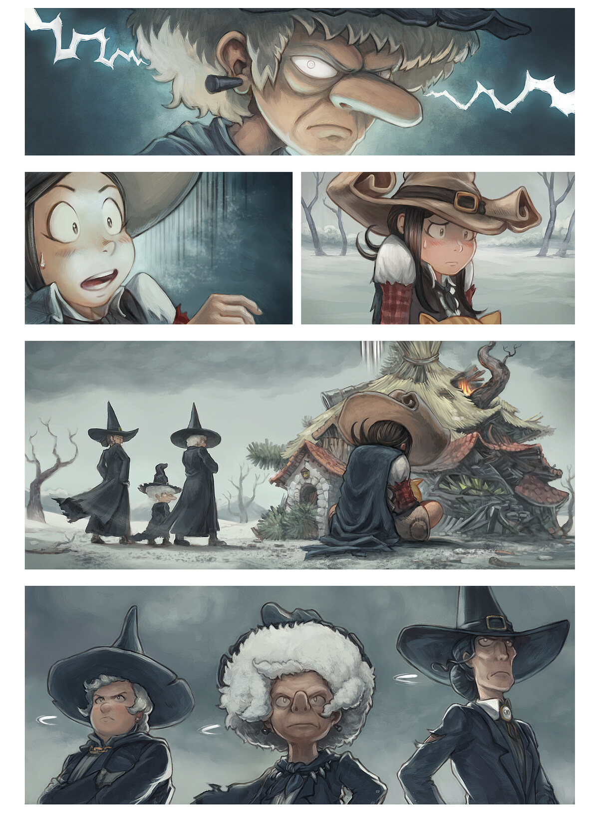 A webcomic page of Pepper&Carrot, rann 25 [br], pajenn 2