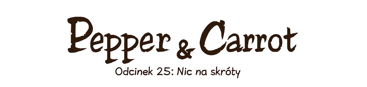 A webcomic page of Pepper&Carrot, odcinek 25 [pl], strona 0