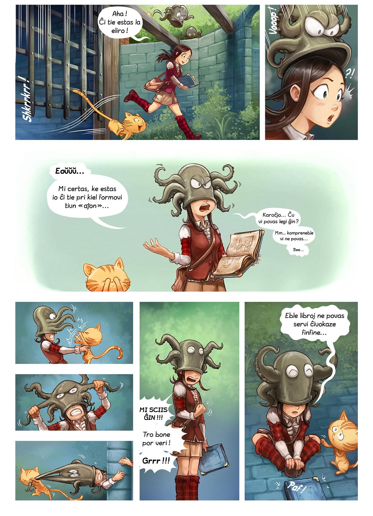 A webcomic page of Pepper&Carrot, rakonto 26 [eo], paĝo 5