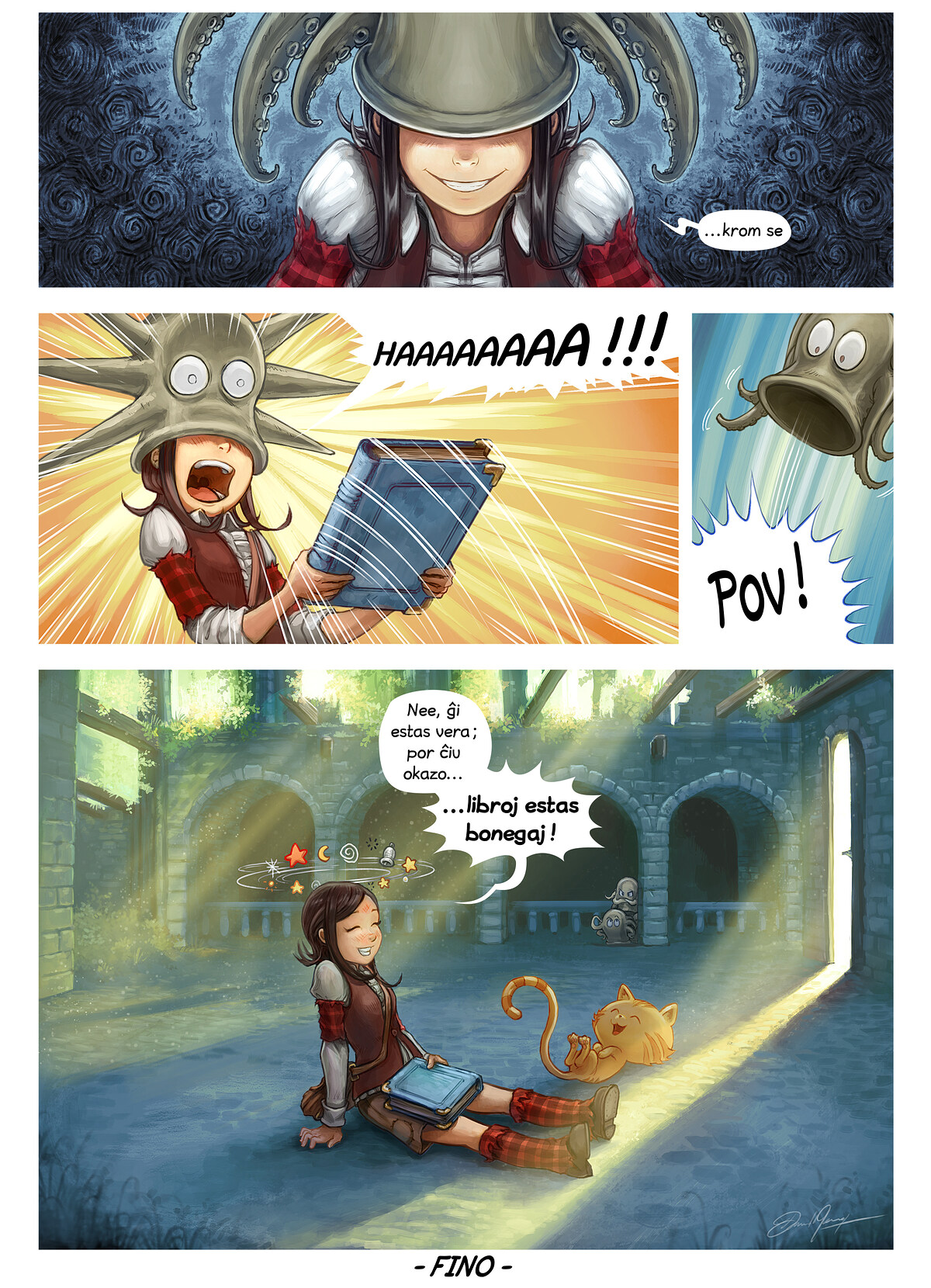 A webcomic page of Pepper&Carrot, rakonto 26 [eo], paĝo 6
