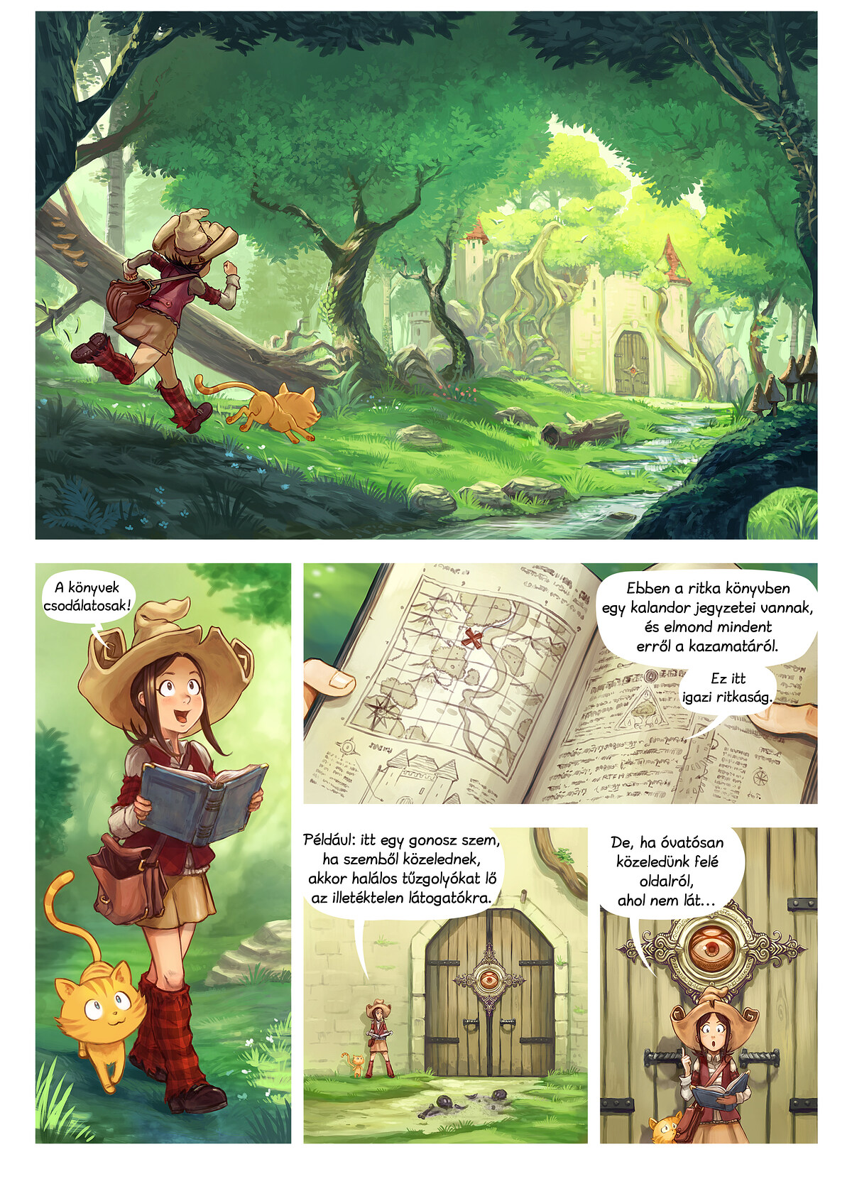 A webcomic page of Pepper&Carrot, epizód 26 [hu], oldal 1