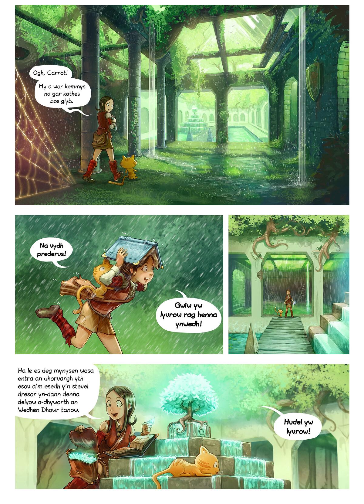Rann 26: Splann yw Lyvrow, Page 3